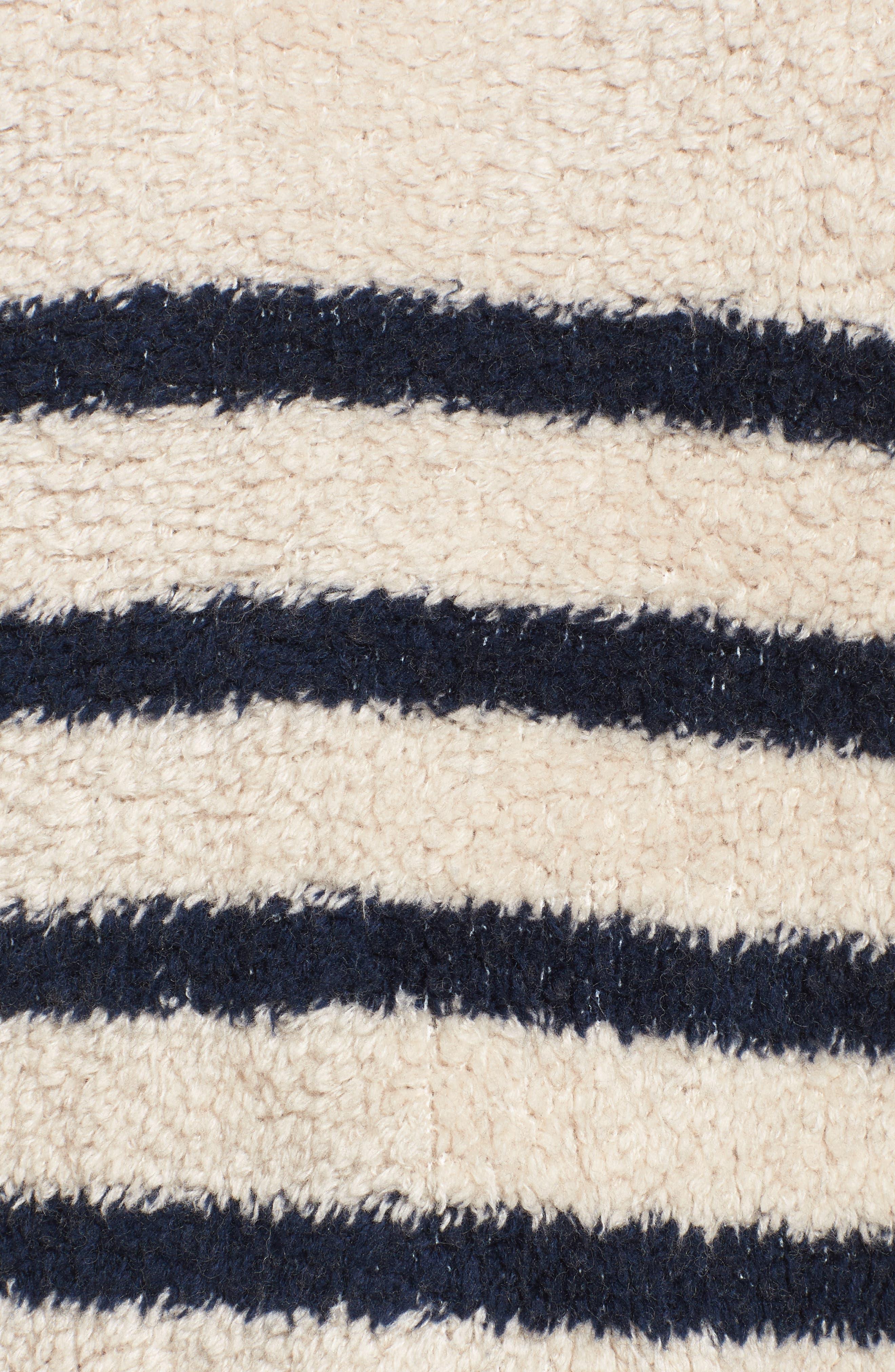 Mariner Stripe Turtleneck Sweater,                             Alternate thumbnail 5, color,                             090