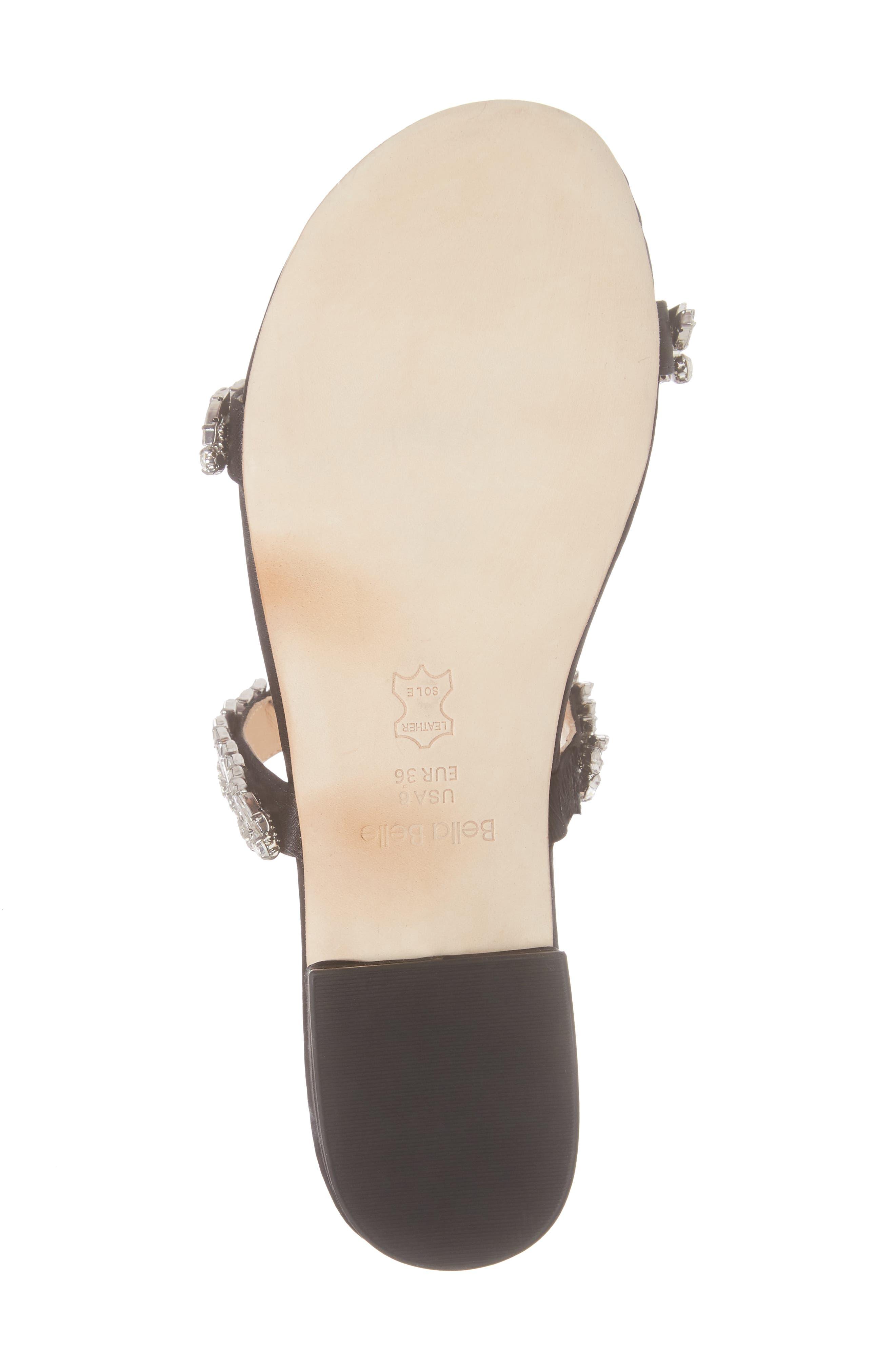 Bree Jeweled Evening Sandal,                             Alternate thumbnail 6, color,                             BLACK