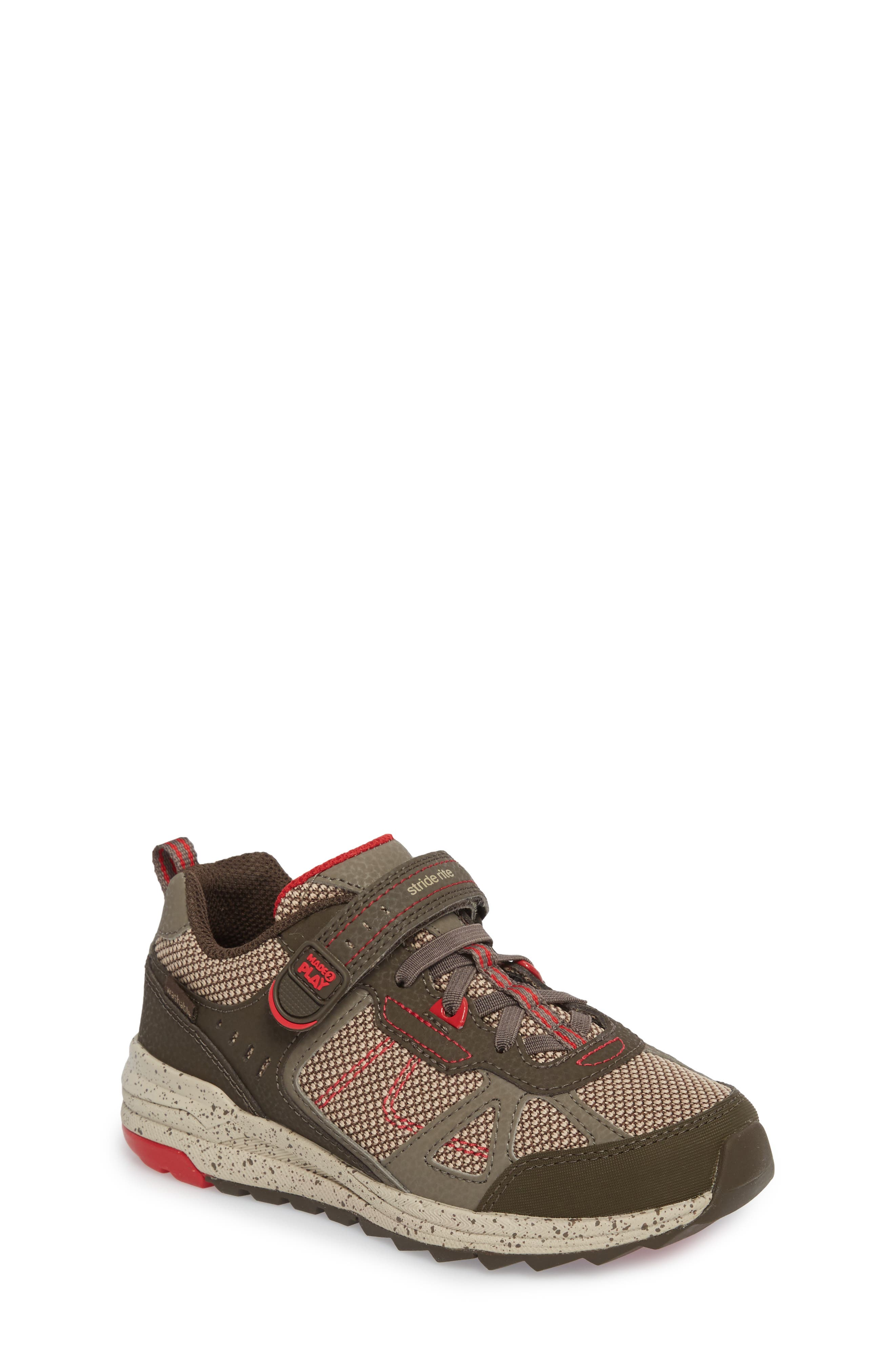 Made2Play<sup>®</sup> Owen Washable Sneaker,                             Main thumbnail 1, color,                             BROWN LEATHER/ TEXTILE