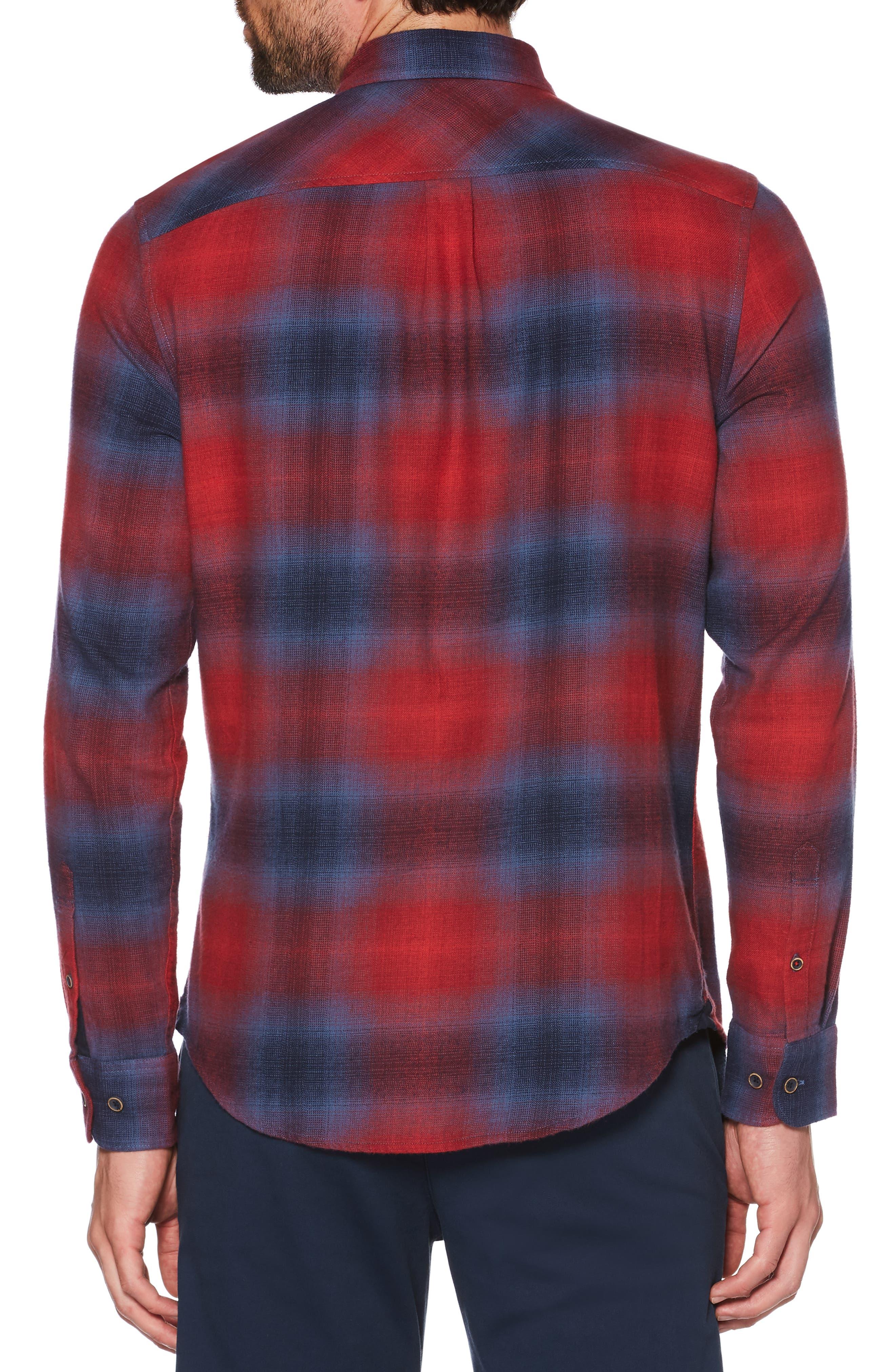 ORIGINAL PENGUIN,                             Ombré Plaid Sport Shirt,                             Alternate thumbnail 2, color,                             607
