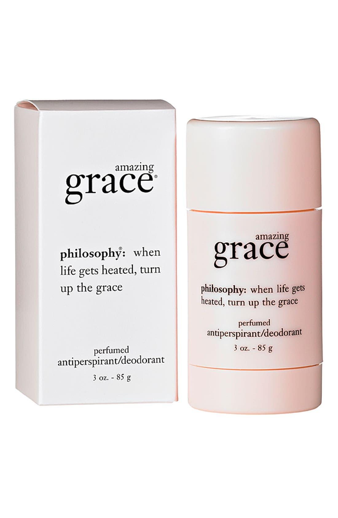 PHILOSOPHY,                             'amazing grace' perfumed antiperspirant/deodorant,                             Main thumbnail 1, color,                             000