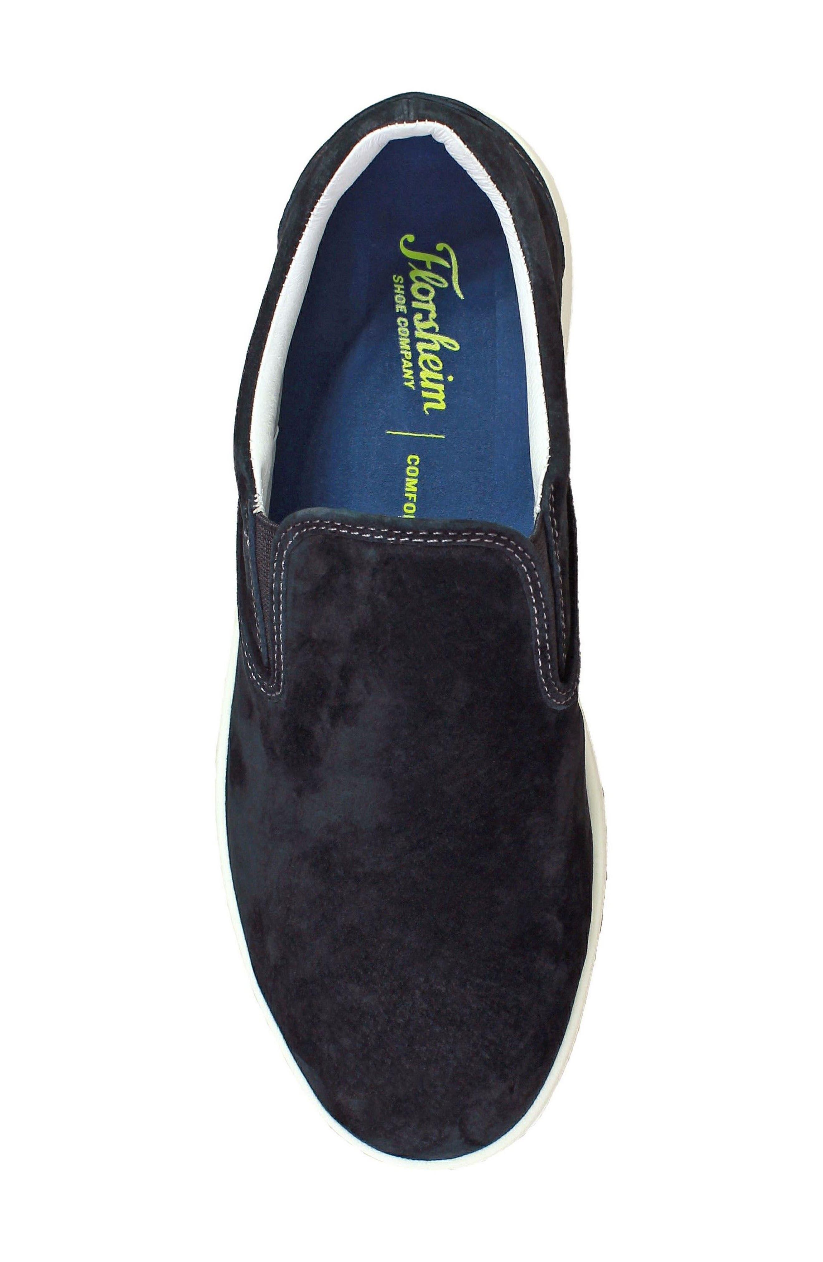 FLORSHEIM,                             Edge Slip-On Sneaker,                             Alternate thumbnail 5, color,                             001
