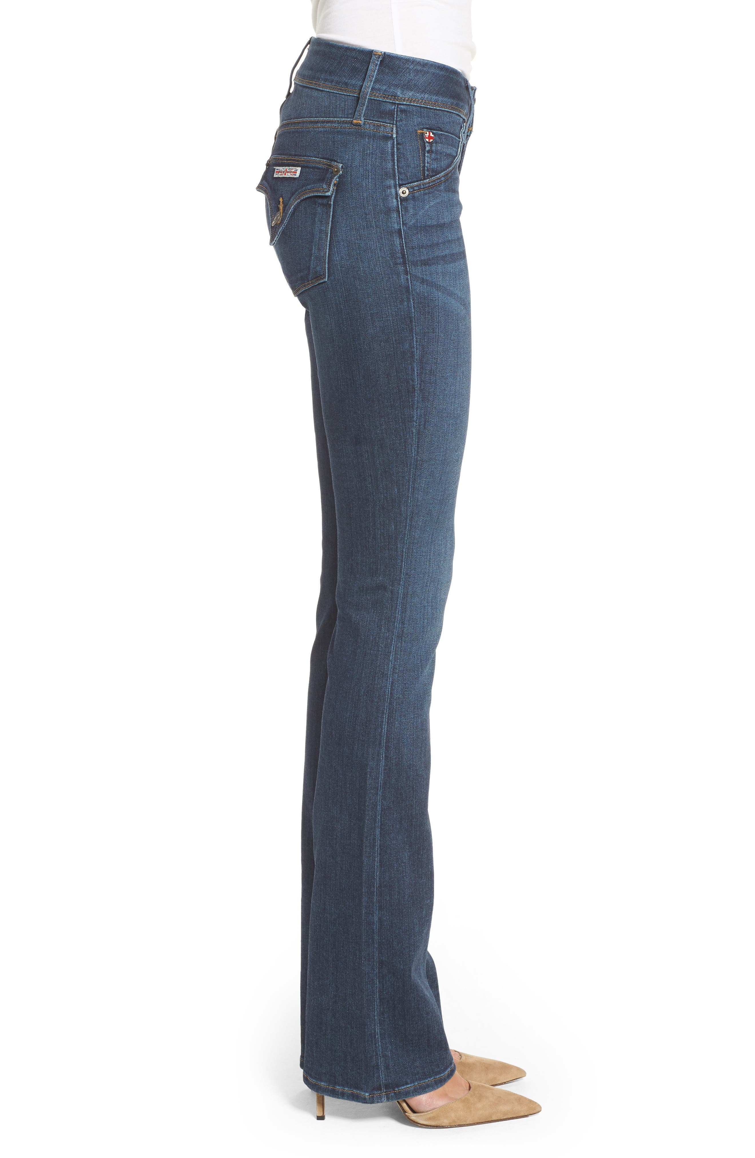 'Beth' Baby Bootcut Jeans,                             Alternate thumbnail 3, color,                             422