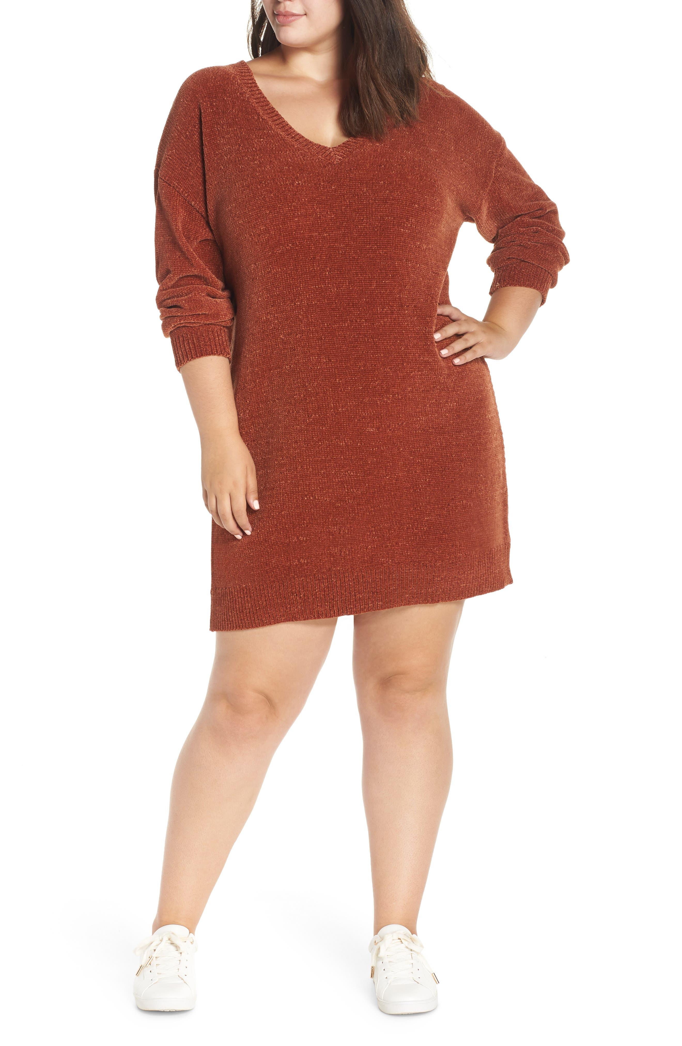 Chenille Sweater Dress, Main, color, 221