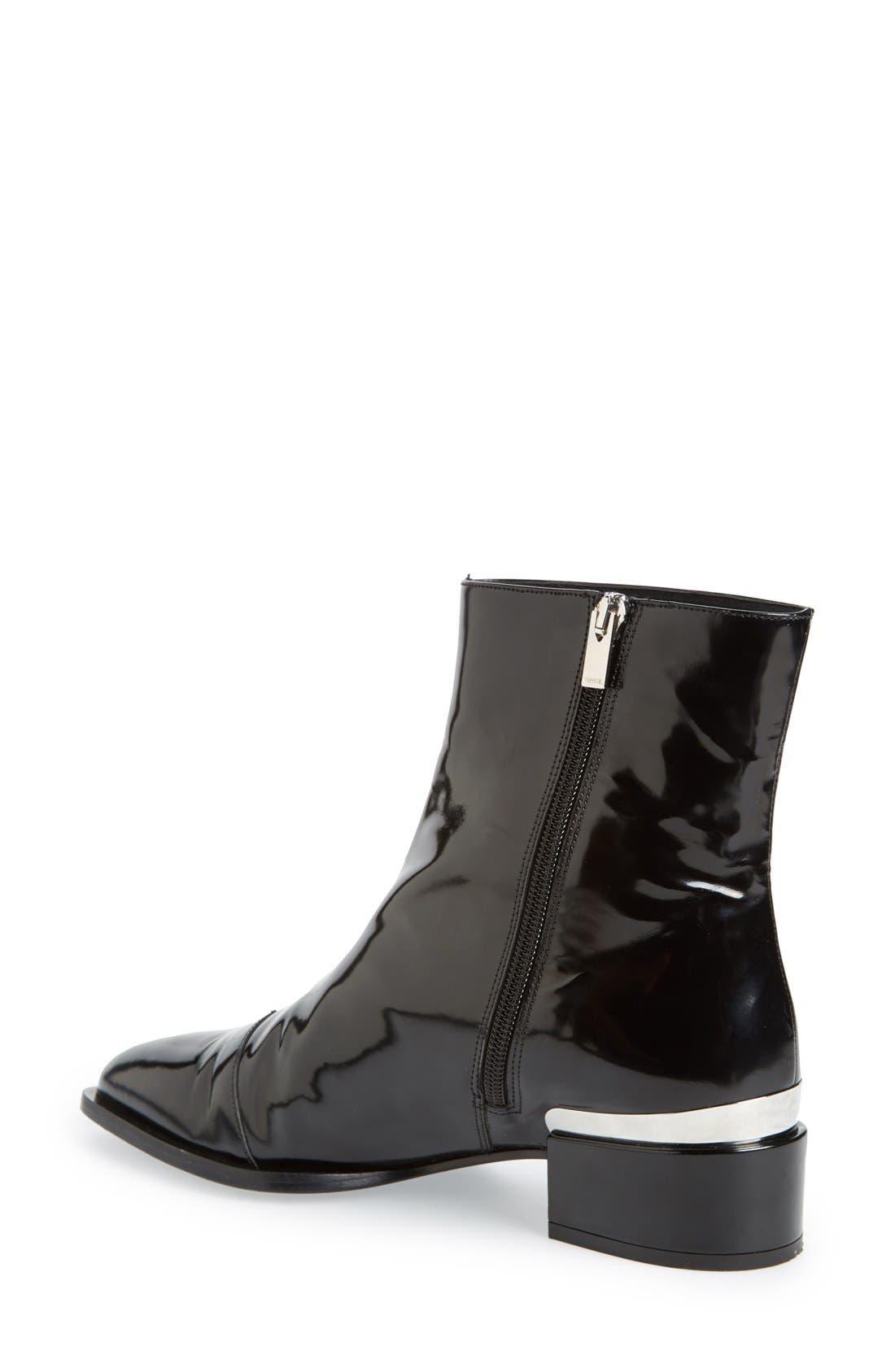 'Yasmin' Pointy Toe Boot,                             Alternate thumbnail 4, color,                             001