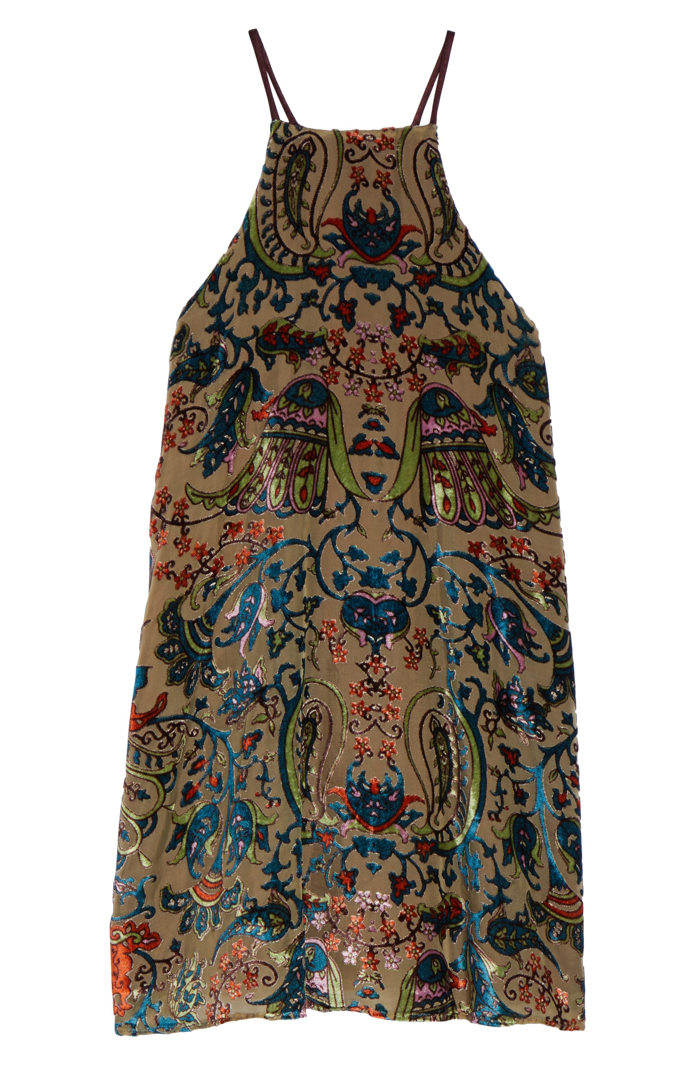 Burnout Velvet Dress,                             Alternate thumbnail 6, color,                             302