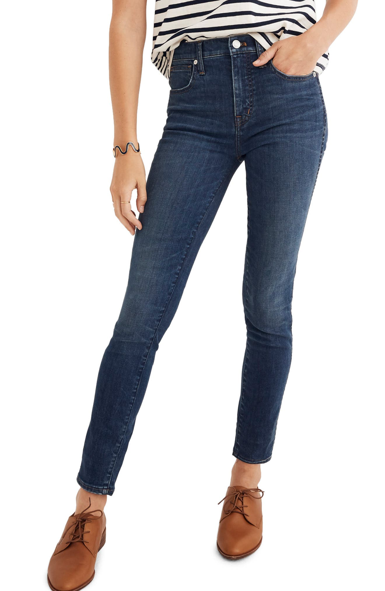 Eco Collection High Rise Skinny Jeans,                         Main,                         color, ELINOR
