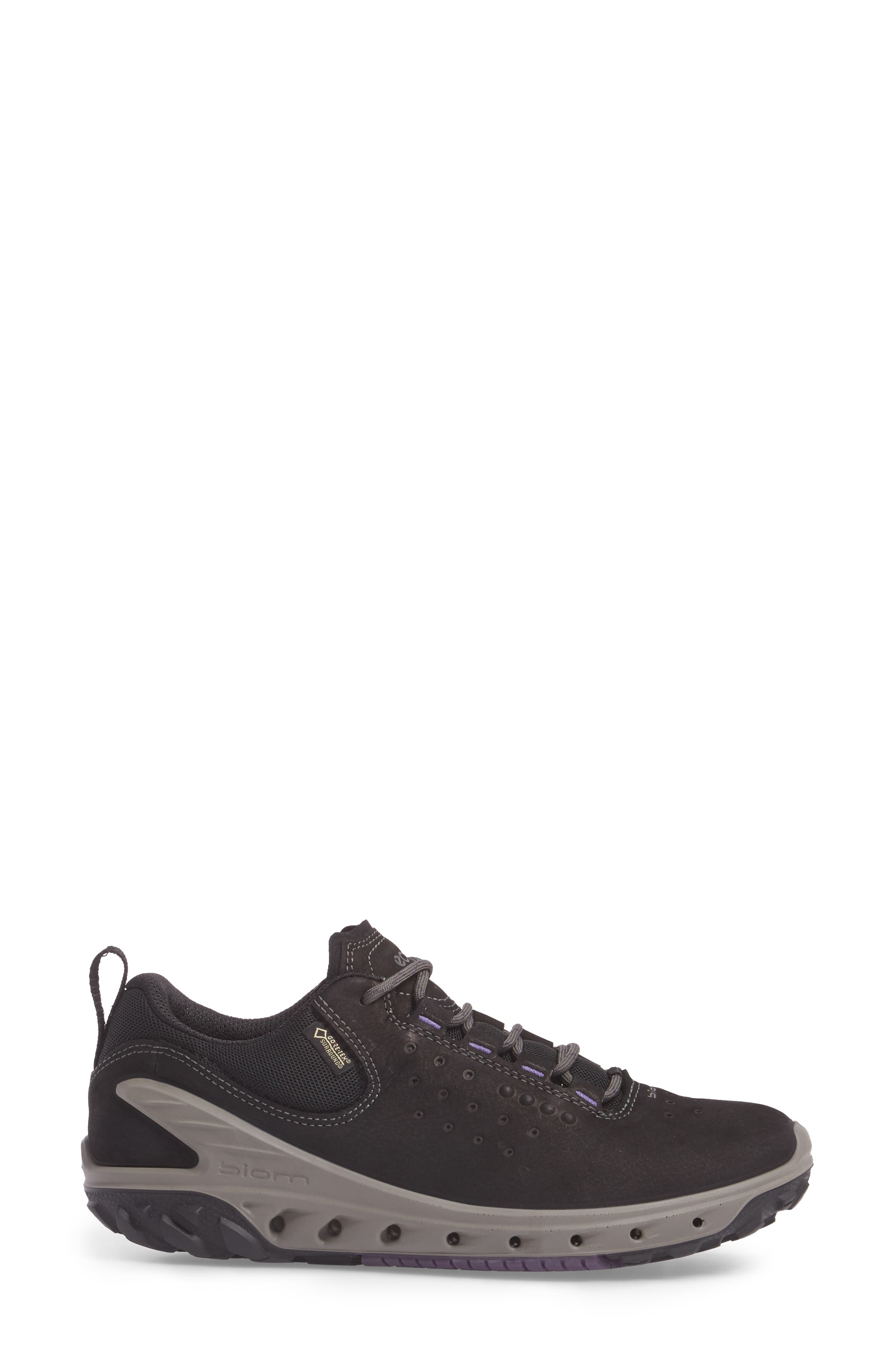 BIOM Venture GTX Sneaker,                             Alternate thumbnail 3, color,                             BLACK LEATHER
