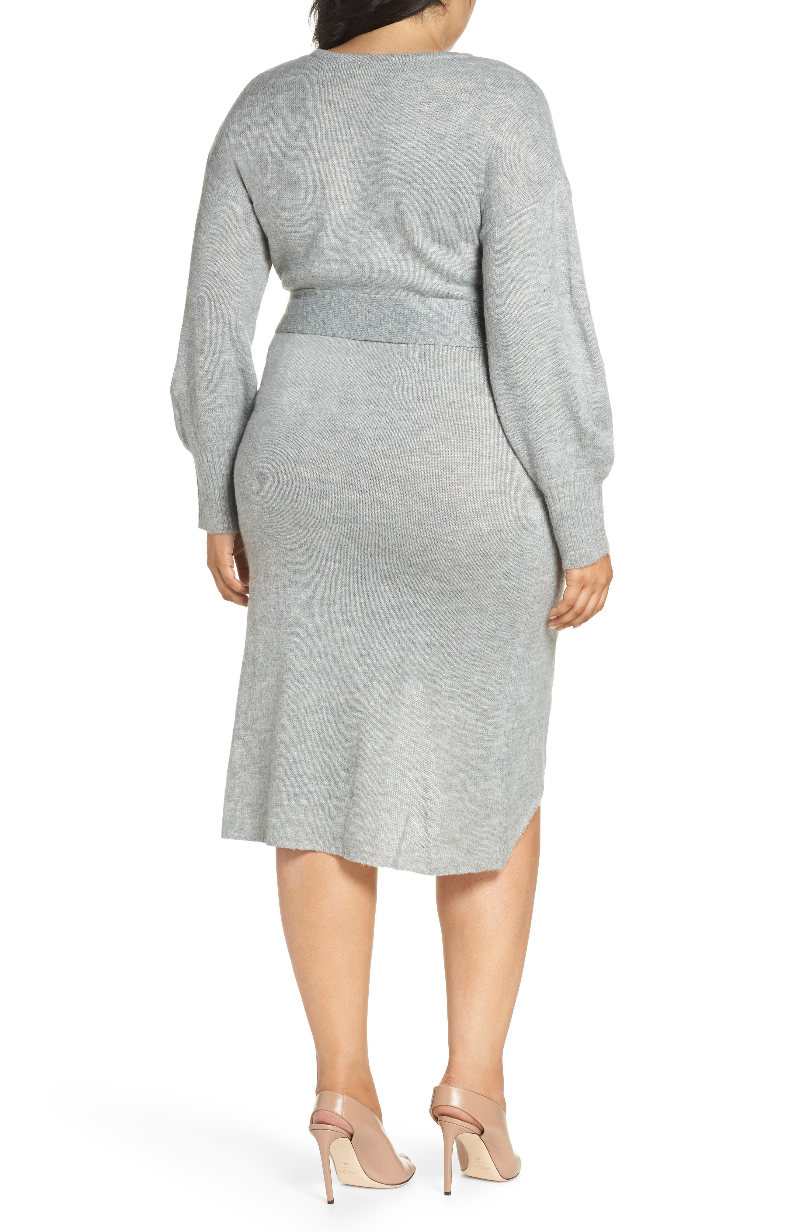 Belted Sweater Dress,                             Alternate thumbnail 2, color,                             020