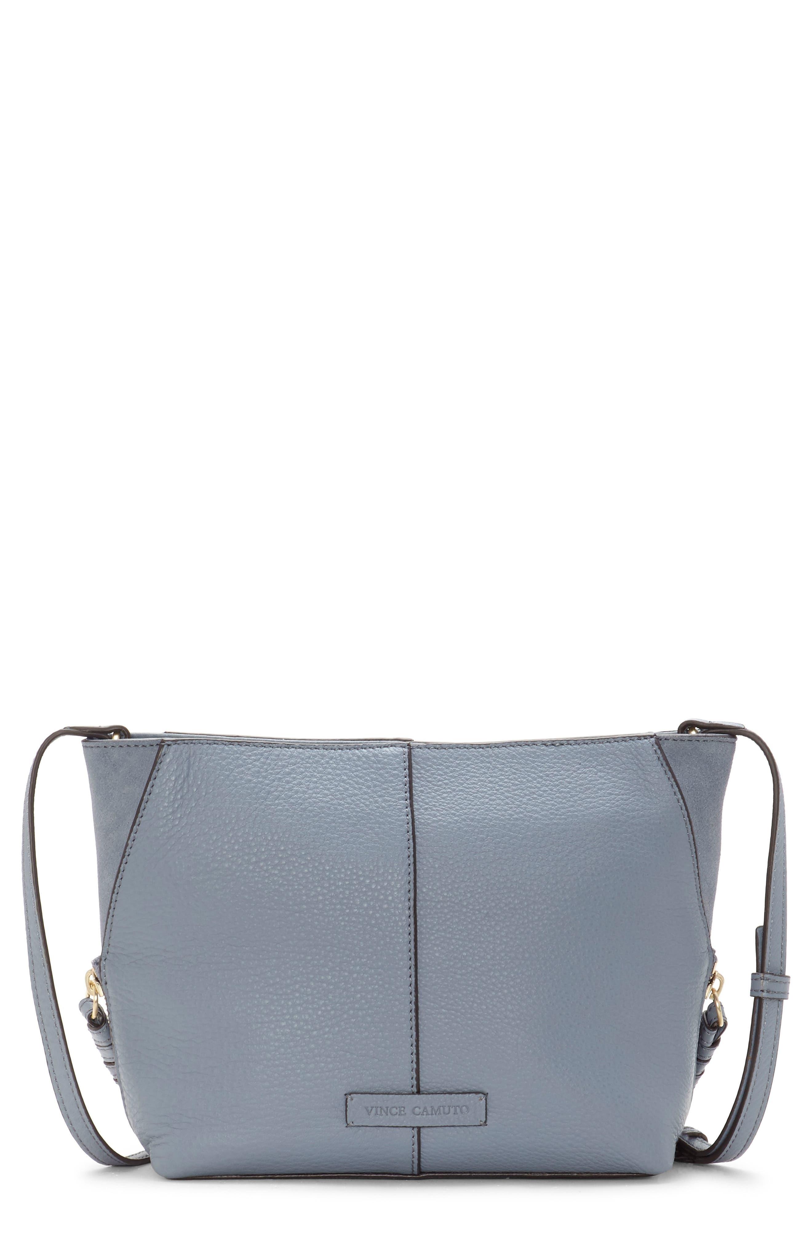 38a4654b2b Vince Camuto Cory Leather Crossbody Bag - Blue