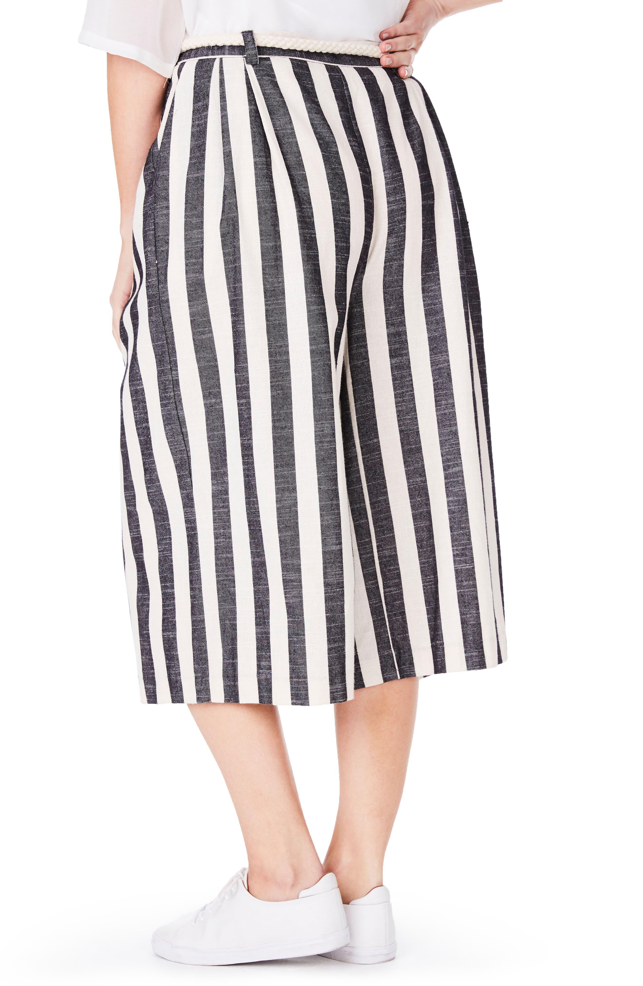 Stripe Culottes,                             Alternate thumbnail 2, color,                             001