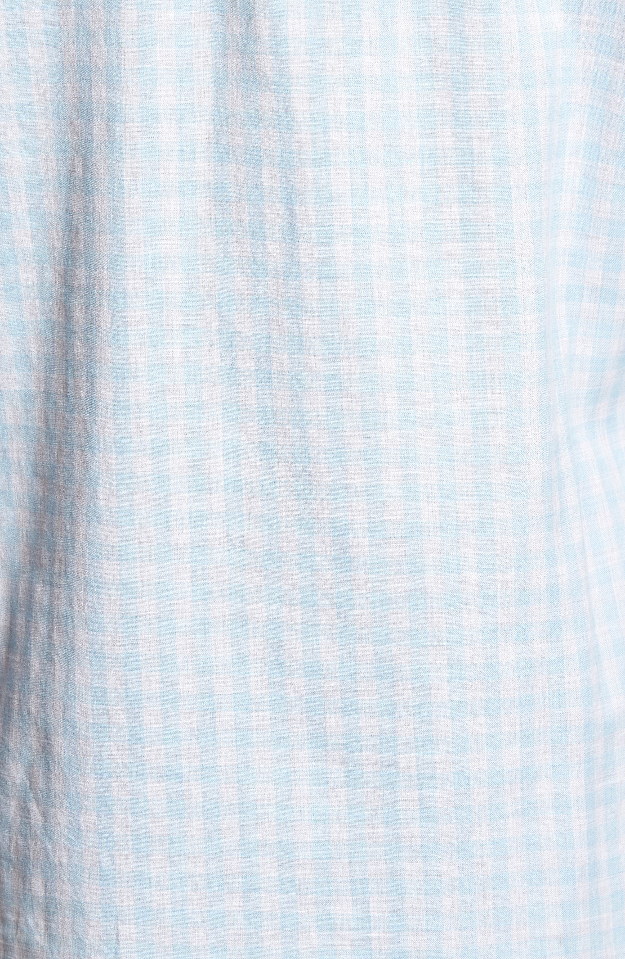 Kirby Slim Fit Check Sport Shirt,                             Alternate thumbnail 5, color,                             BLUE/ GREY