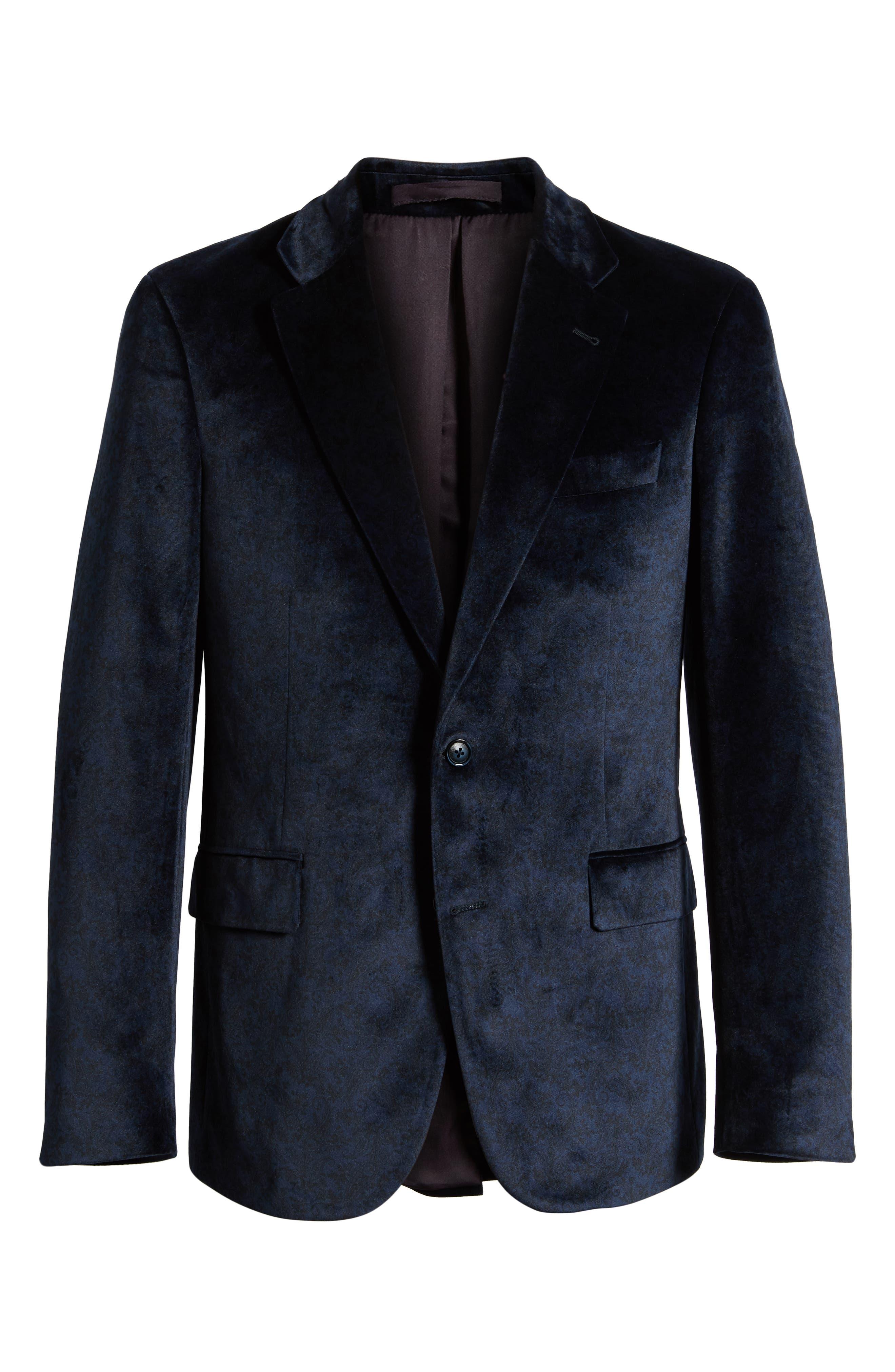 Barton Tailored Fit Blazer,                             Alternate thumbnail 5, color,                             NAVY