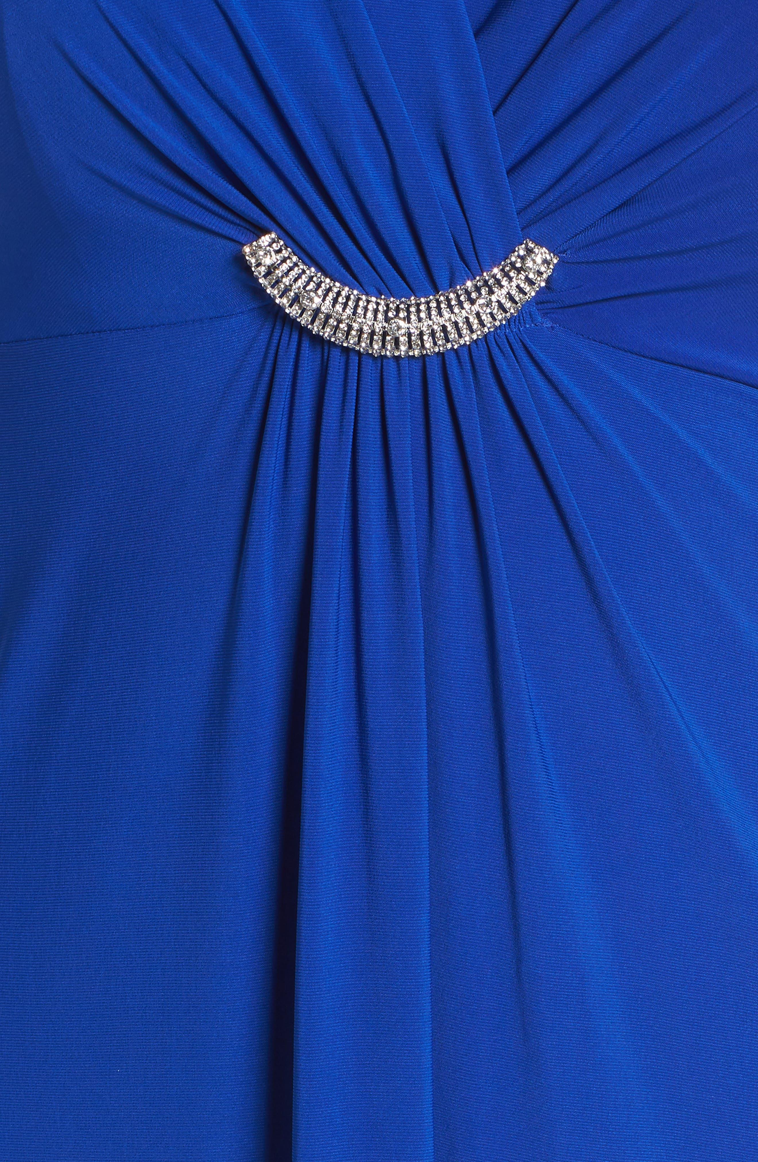 Embellished Surplice Dress,                             Alternate thumbnail 6, color,                             430