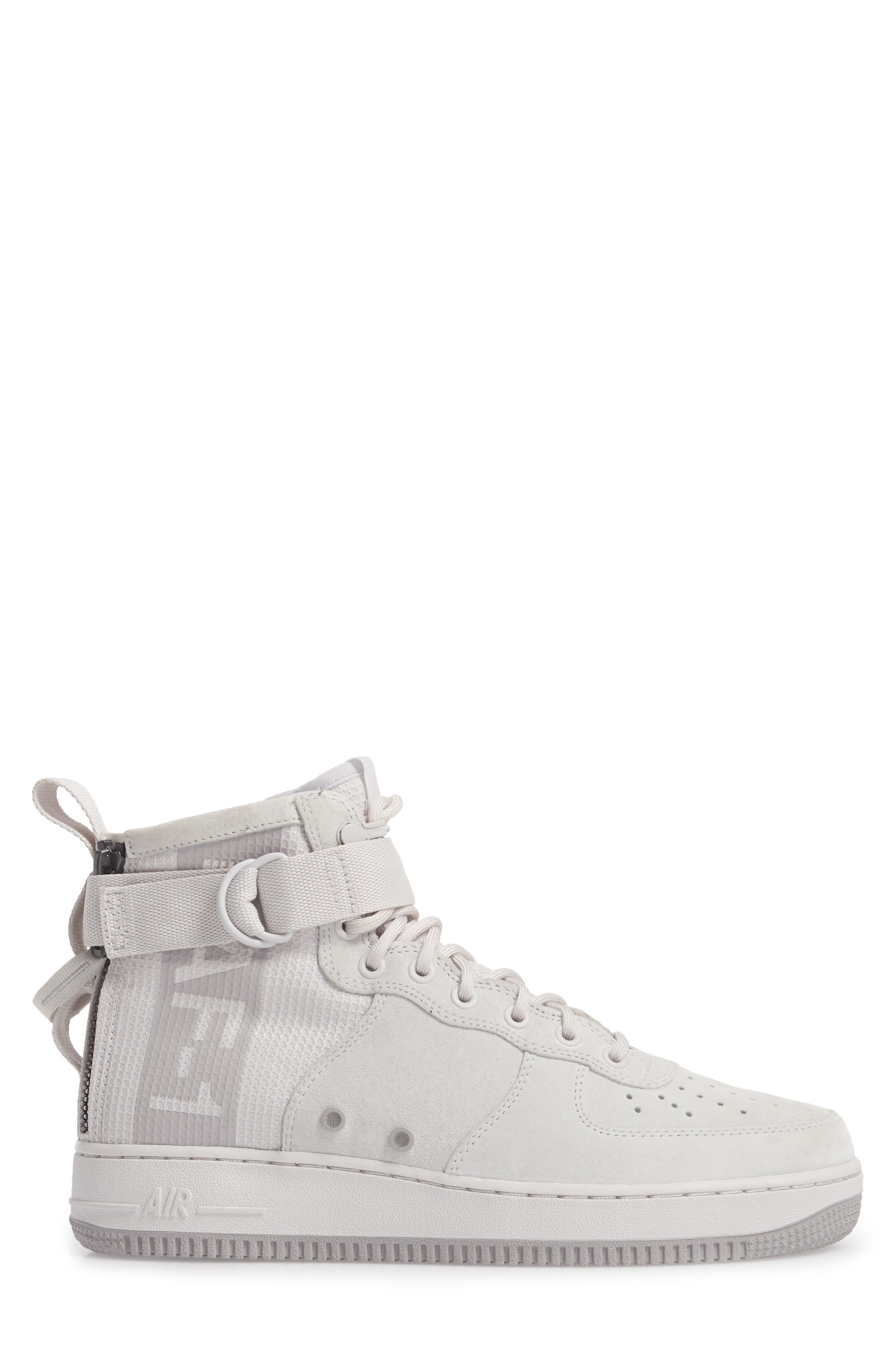 SF Air Force 1 Mid Suede Sneaker,                             Alternate thumbnail 3, color,                             021
