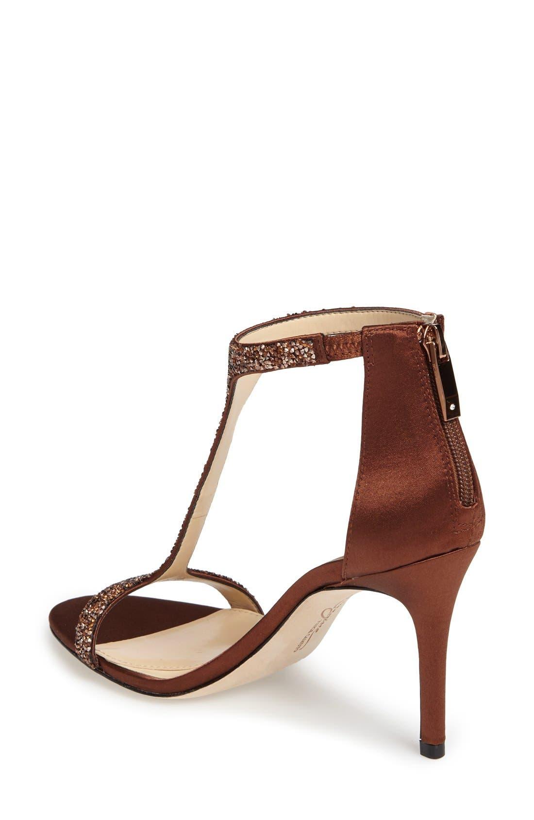 'Phoebe' Embellished T-Strap Sandal,                             Alternate thumbnail 87, color,