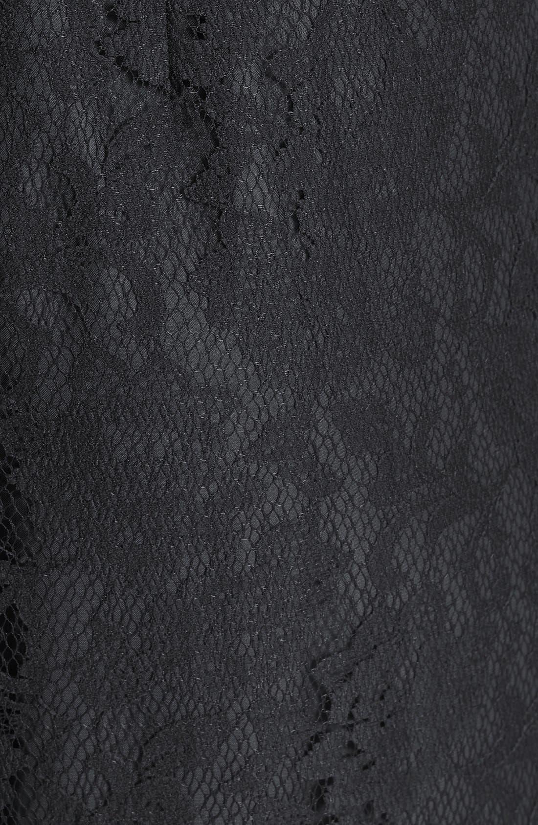 Illusion Yoke Lace Gown,                             Alternate thumbnail 3, color,                             022