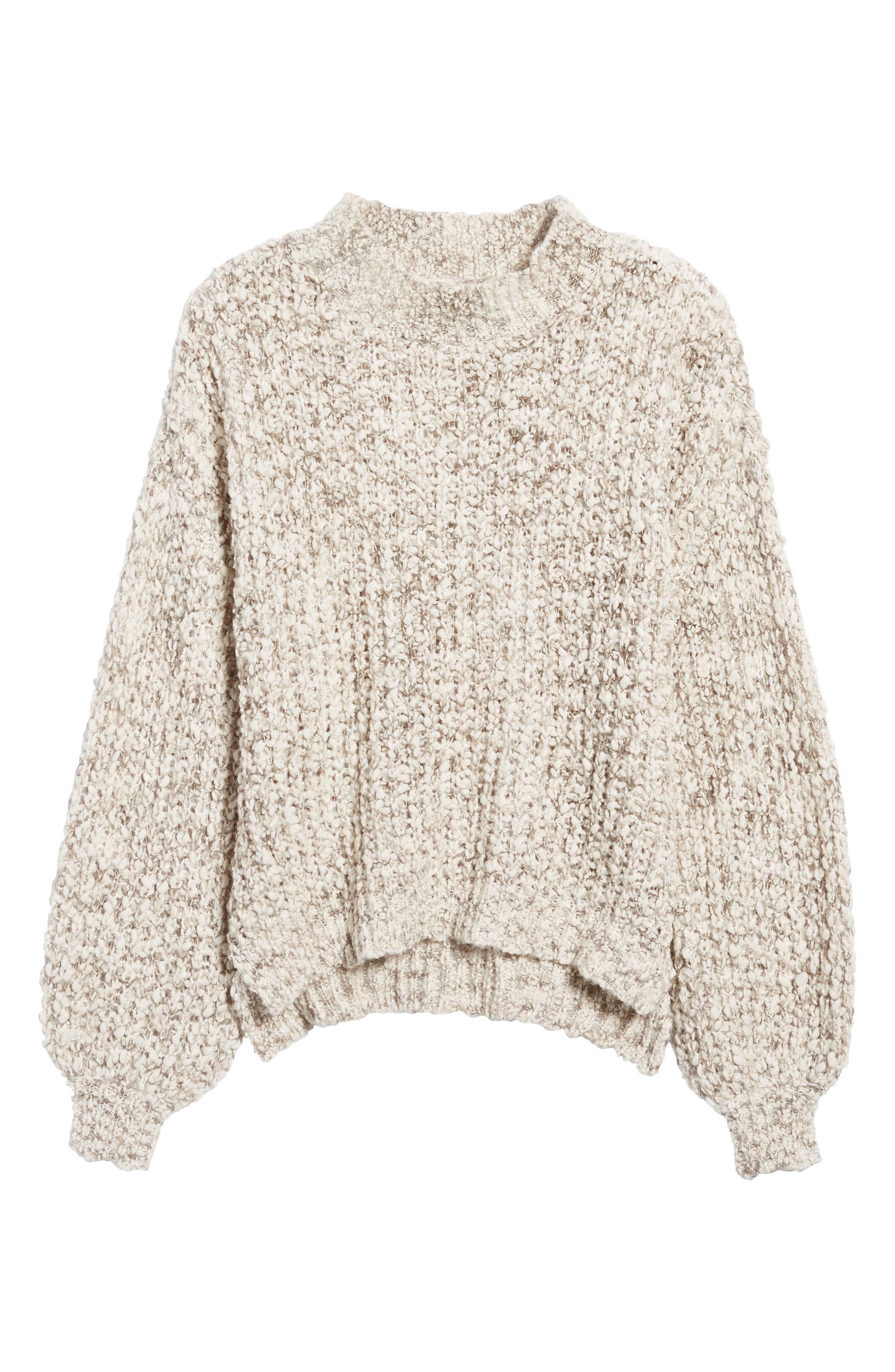 Chunky Knit Mock Neck Sweater,                             Alternate thumbnail 6, color,                             900