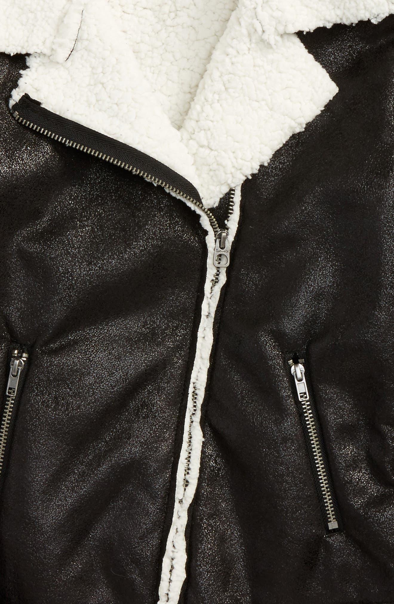 Fleece Moto Jacket,                             Alternate thumbnail 2, color,                             001