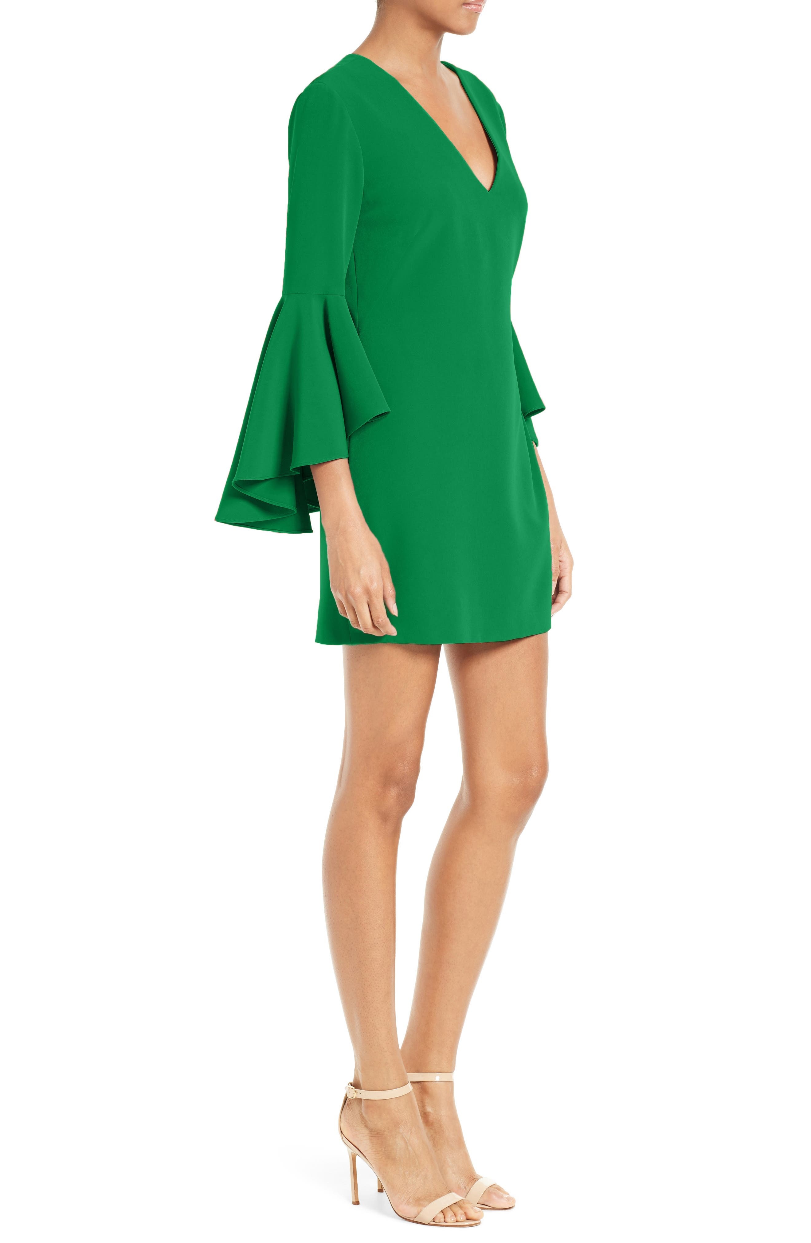 Nicole Bell Sleeve Dress,                             Alternate thumbnail 35, color,