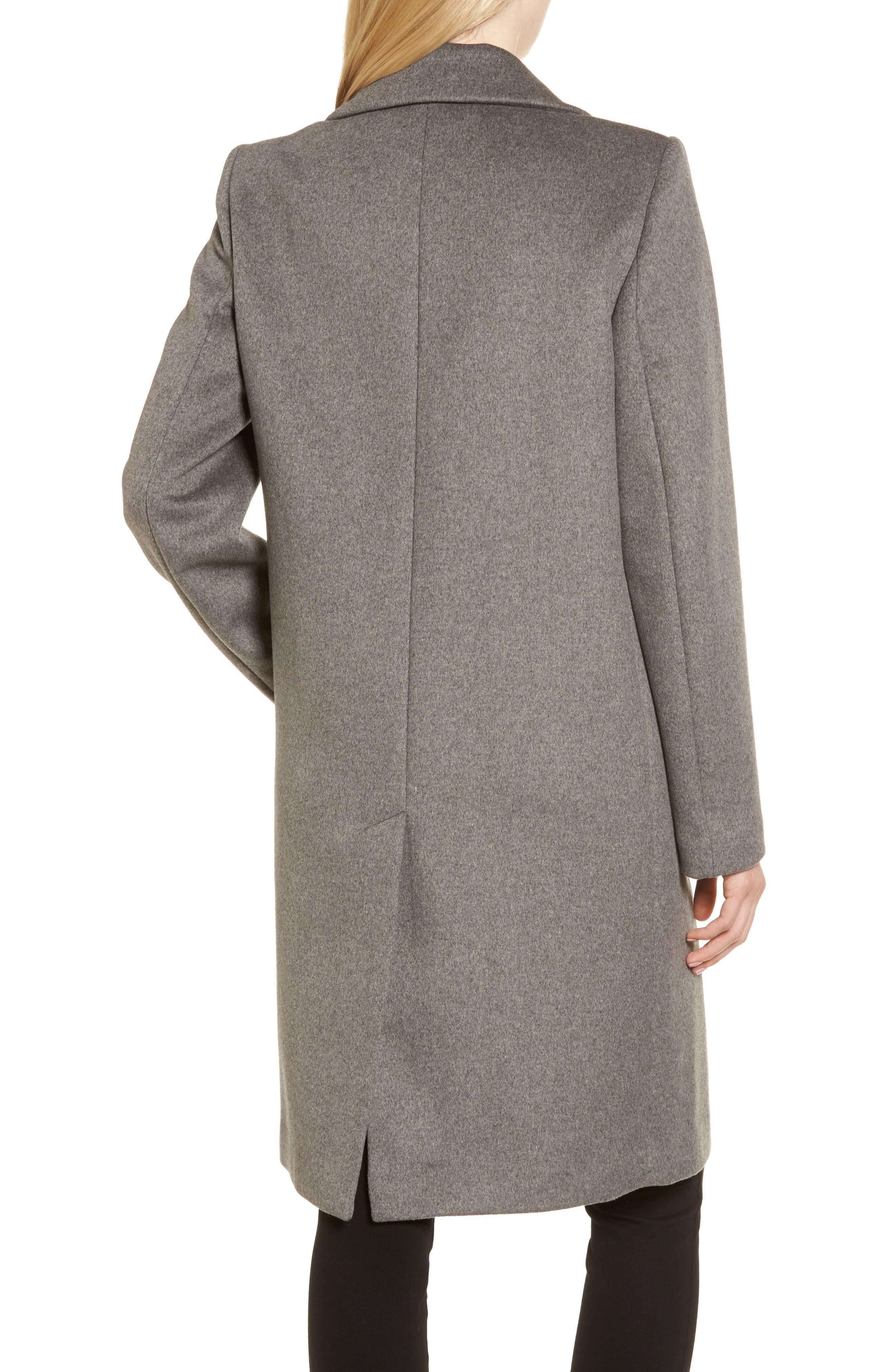 DKNY Lavish Wool Blend Coat,                             Alternate thumbnail 4, color,
