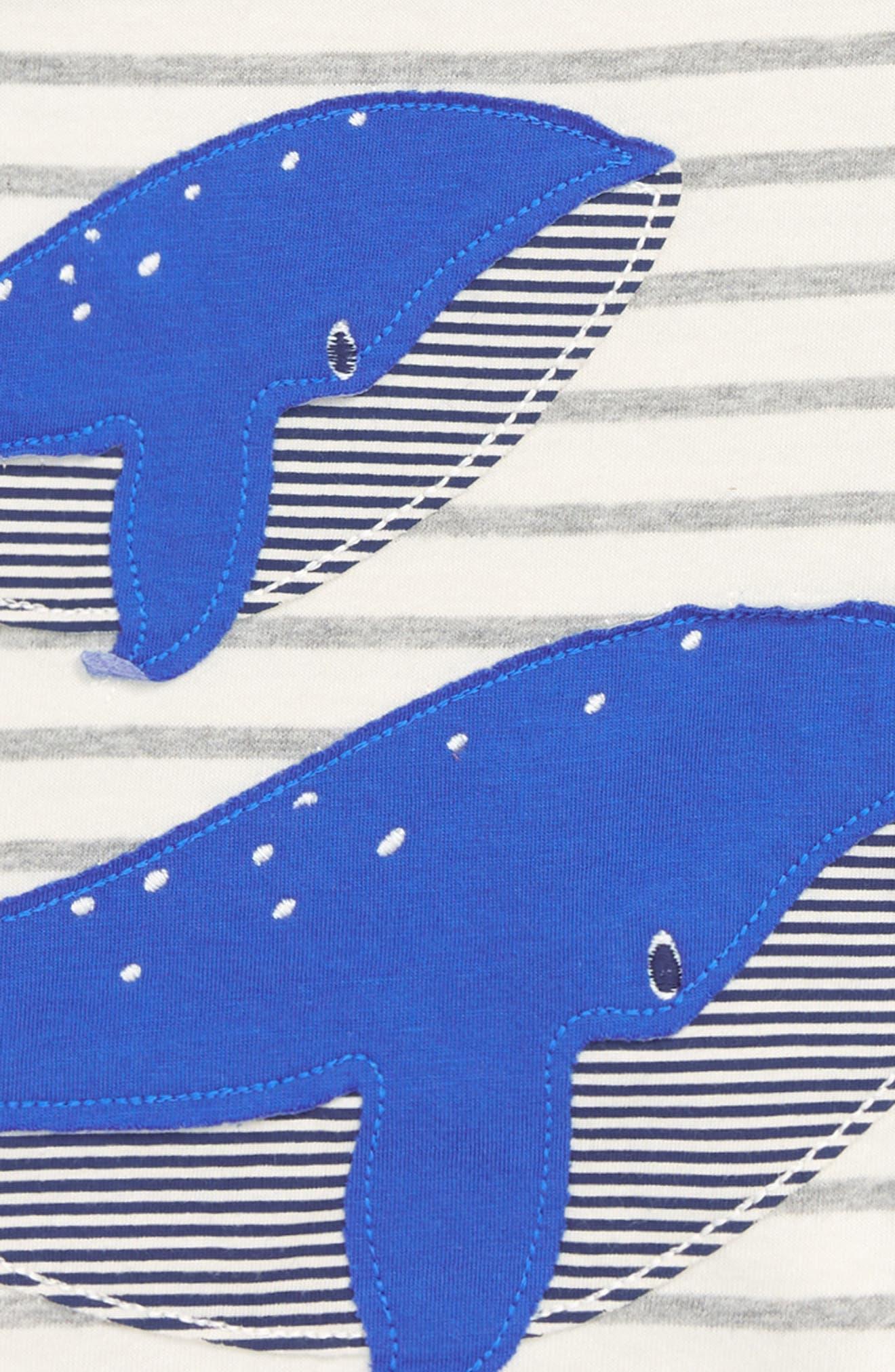 Whale Appliqué T-Shirt,                             Alternate thumbnail 2, color,                             904