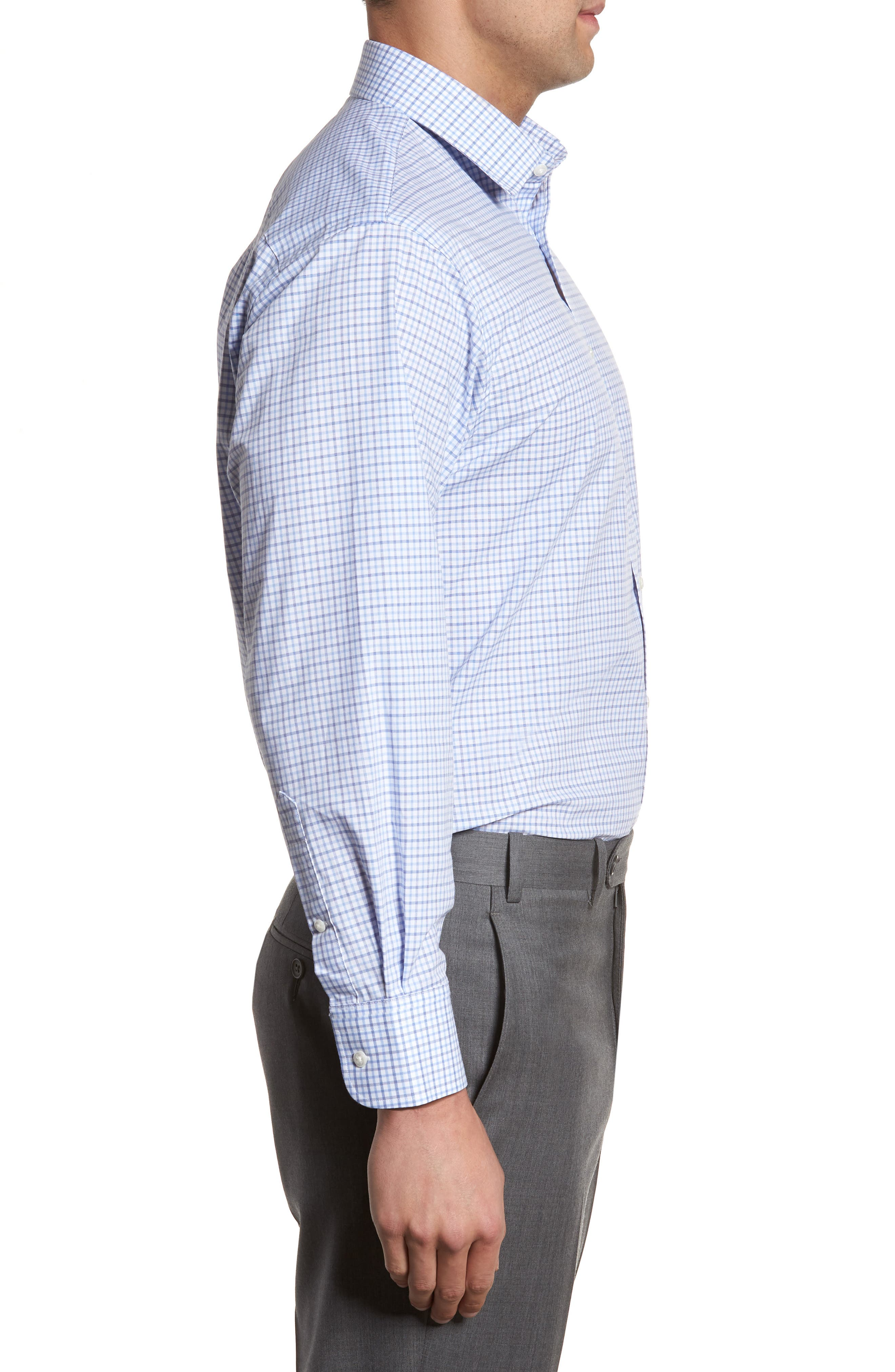 Classic Fit Check Dress Shirt,                             Alternate thumbnail 14, color,