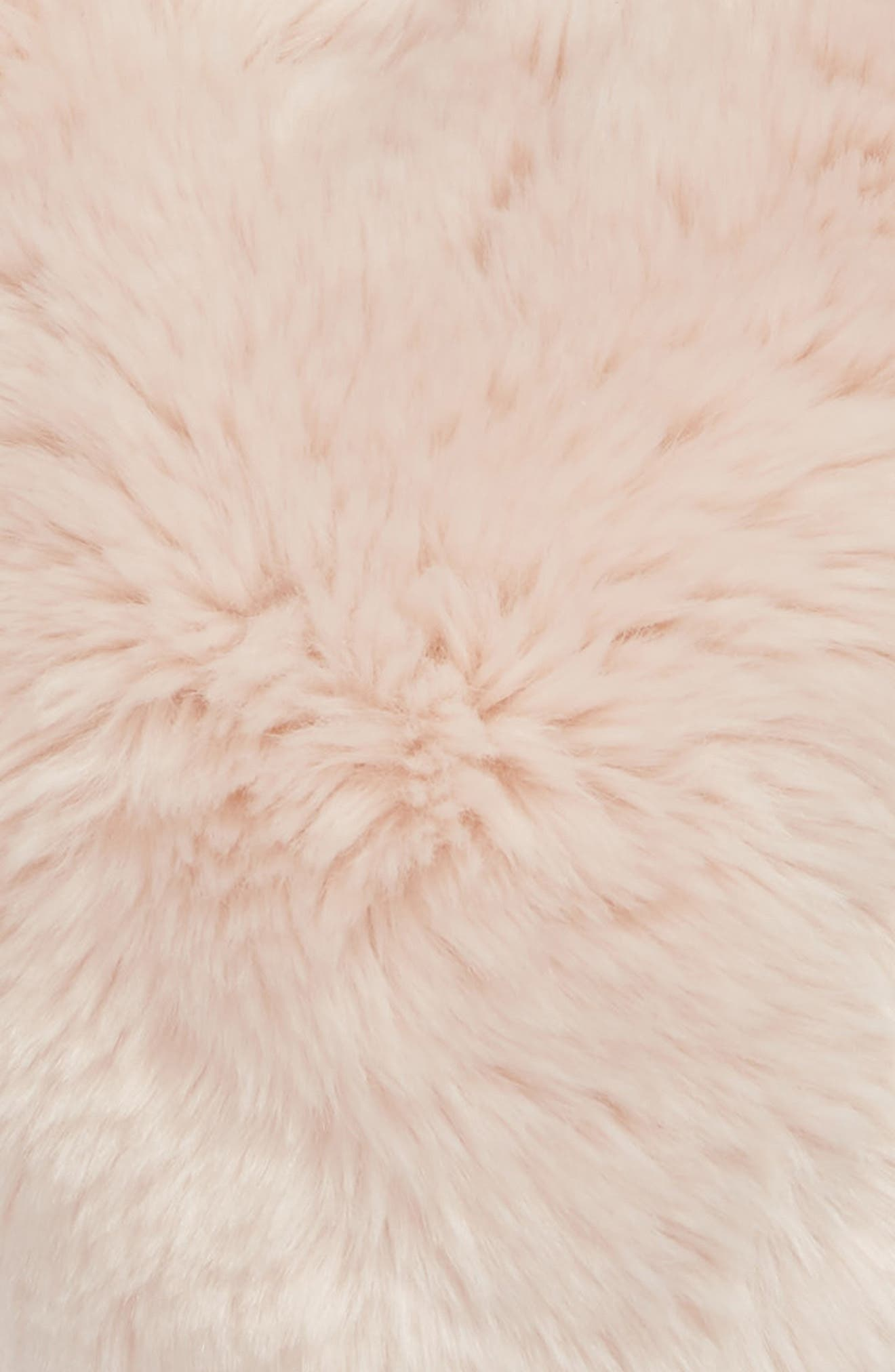 NORDSTROM AT HOME,                             Cuddle Up Faux Fur Heart Accent Pillow,                             Alternate thumbnail 3, color,                             PINK FROSTY