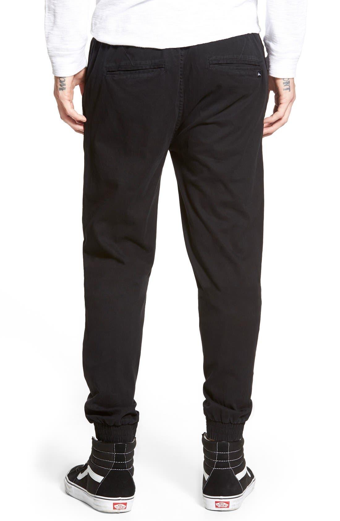 'Denny' Woven Jogger Pants,                             Alternate thumbnail 3, color,                             001