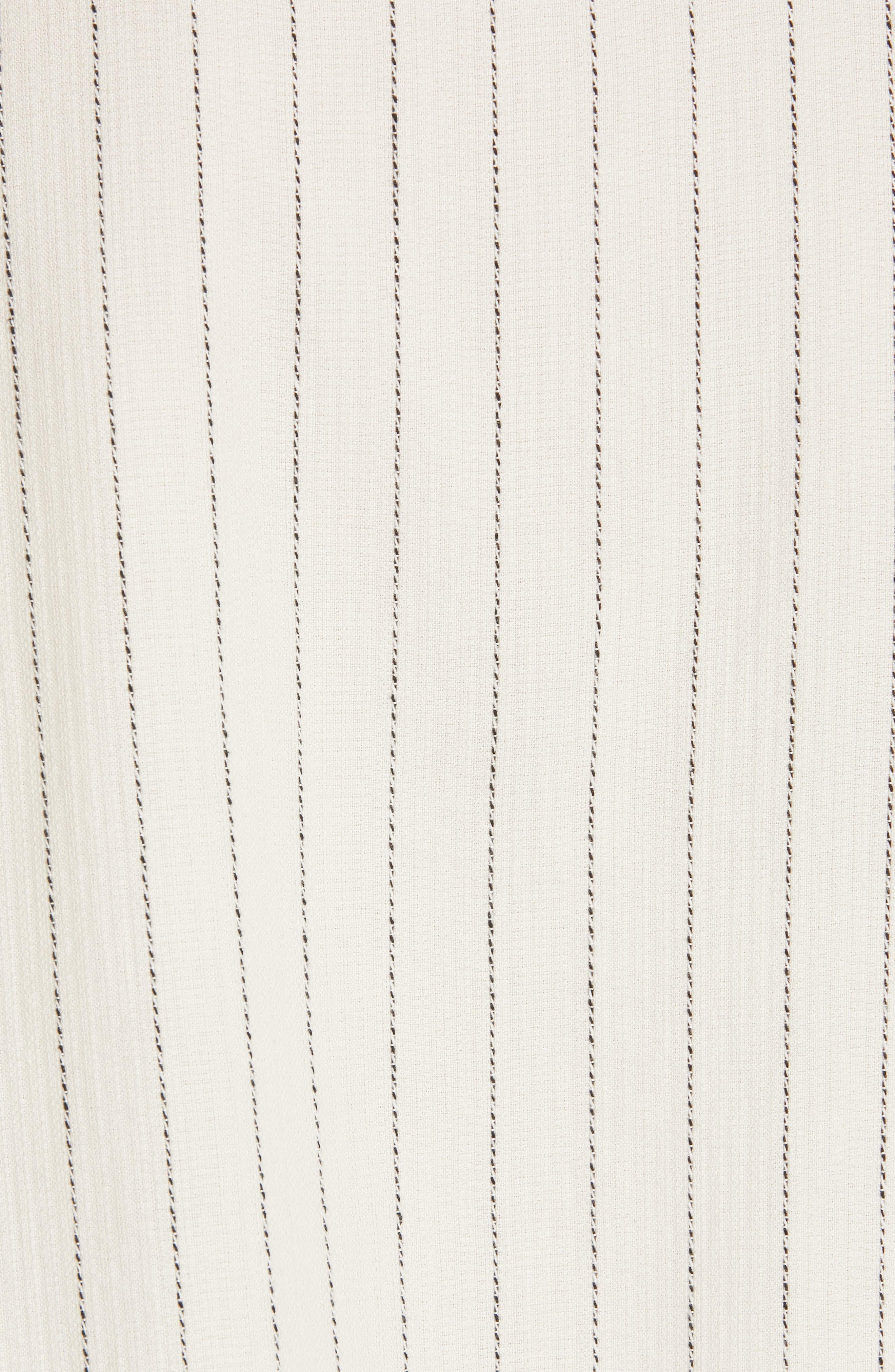 Stripe Bateau Neck Top,                             Alternate thumbnail 5, color,                             ECRU