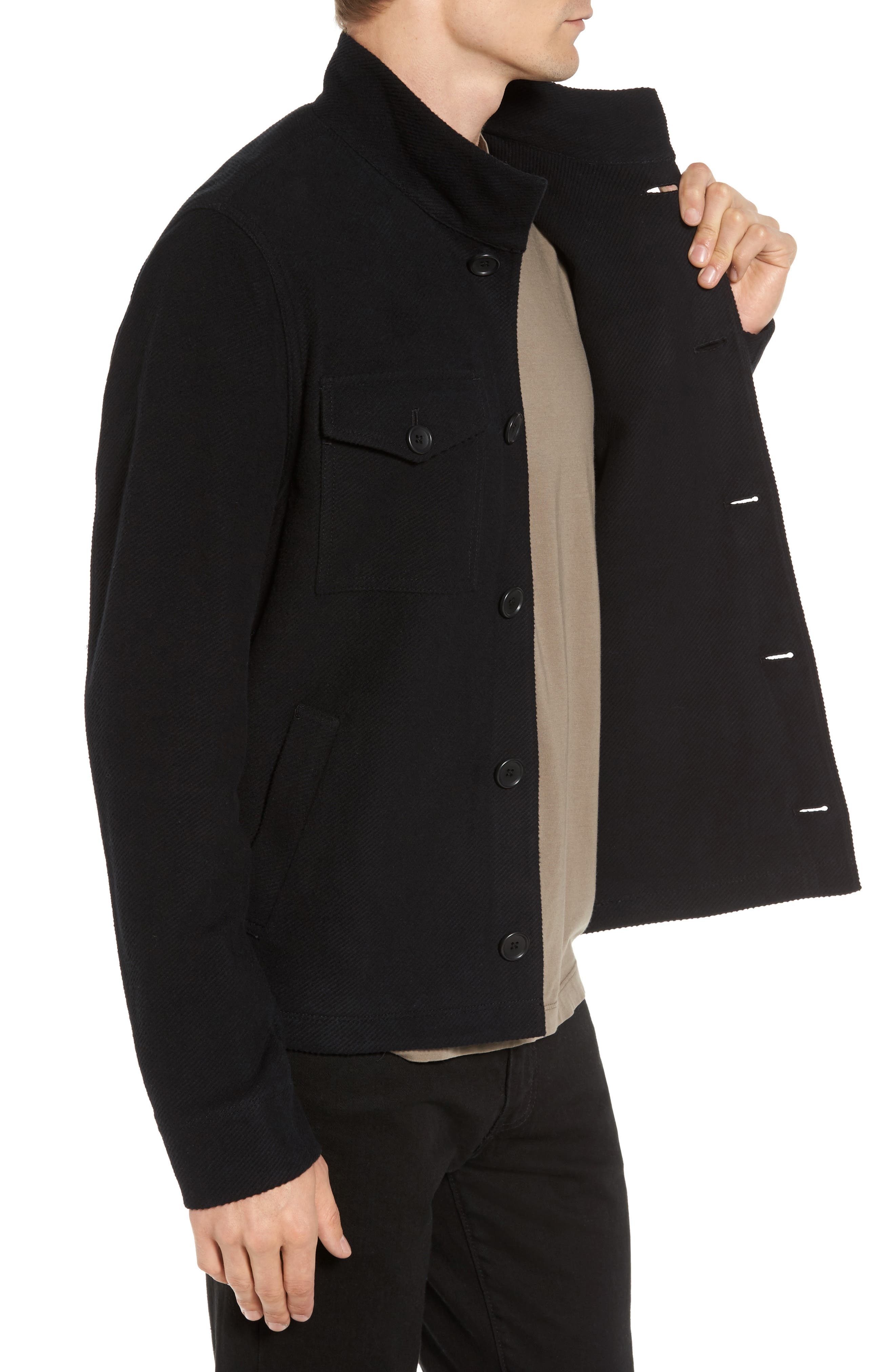 Drill Button Front Knit Jacket,                             Alternate thumbnail 5, color,
