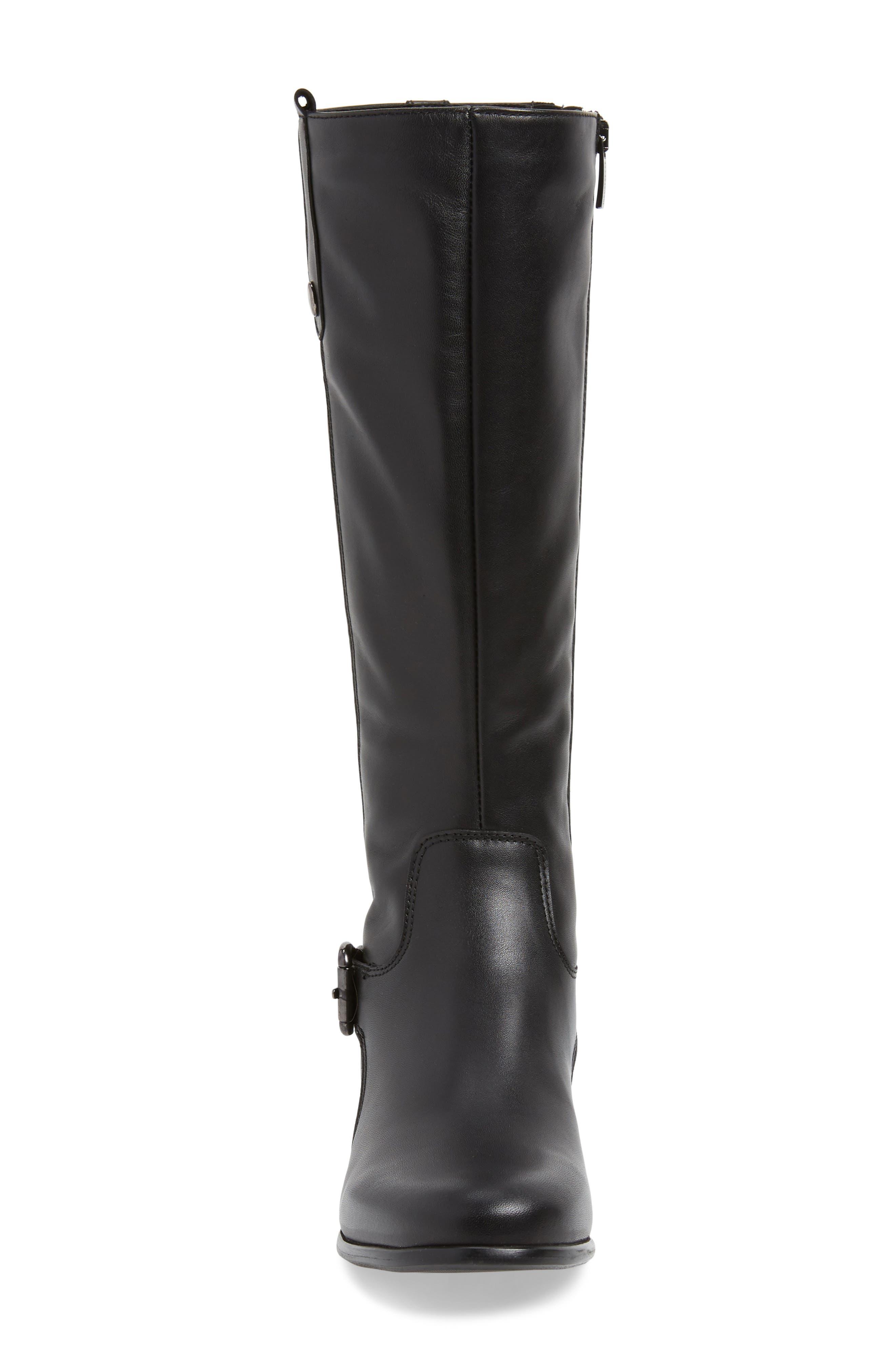 'Stefanie' Waterproof Boot,                             Alternate thumbnail 5, color,                             BLACK LEATHER