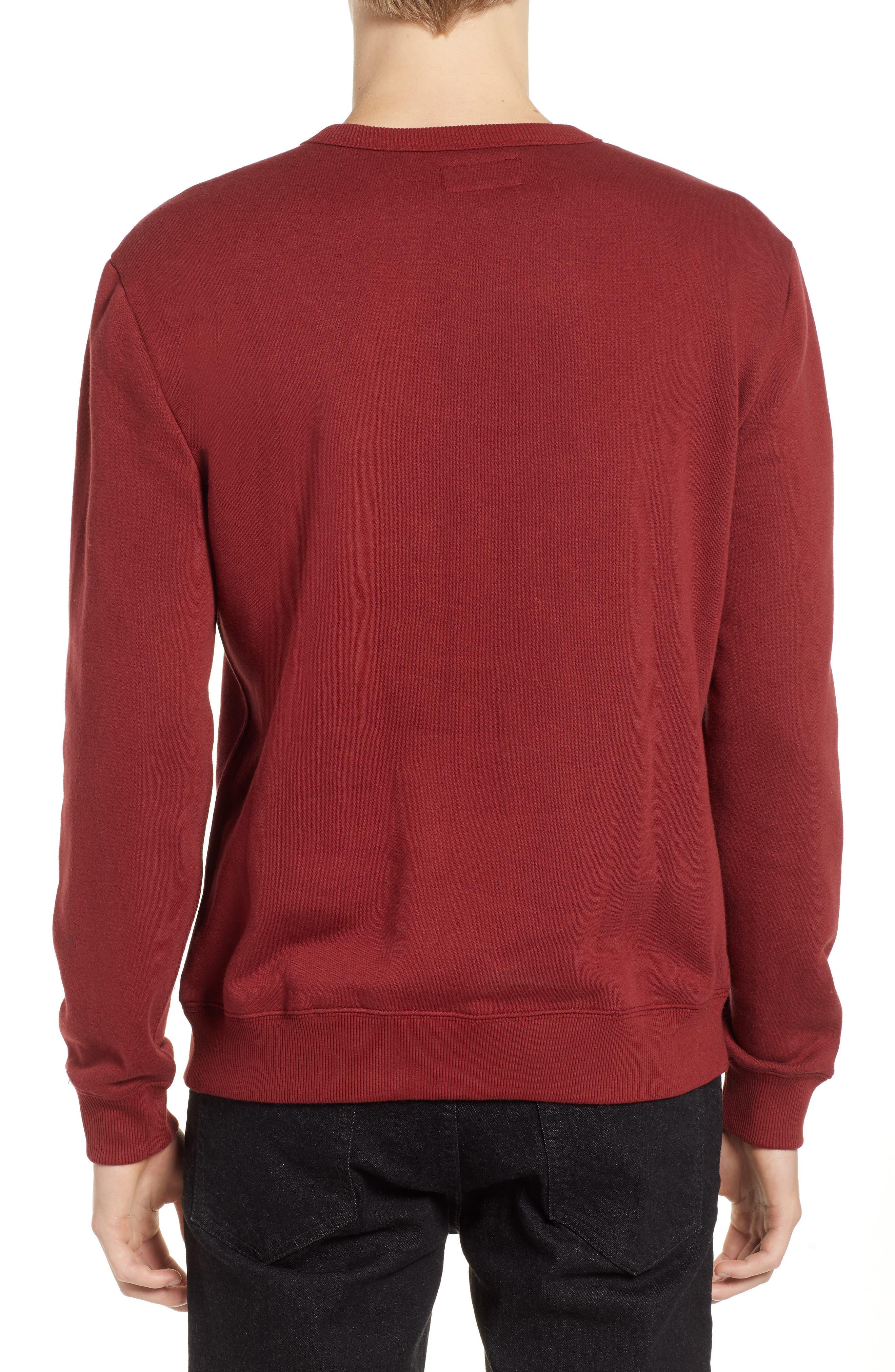 B-Shield Appliqué Crewneck Sweatshirt,                             Alternate thumbnail 2, color,                             RED