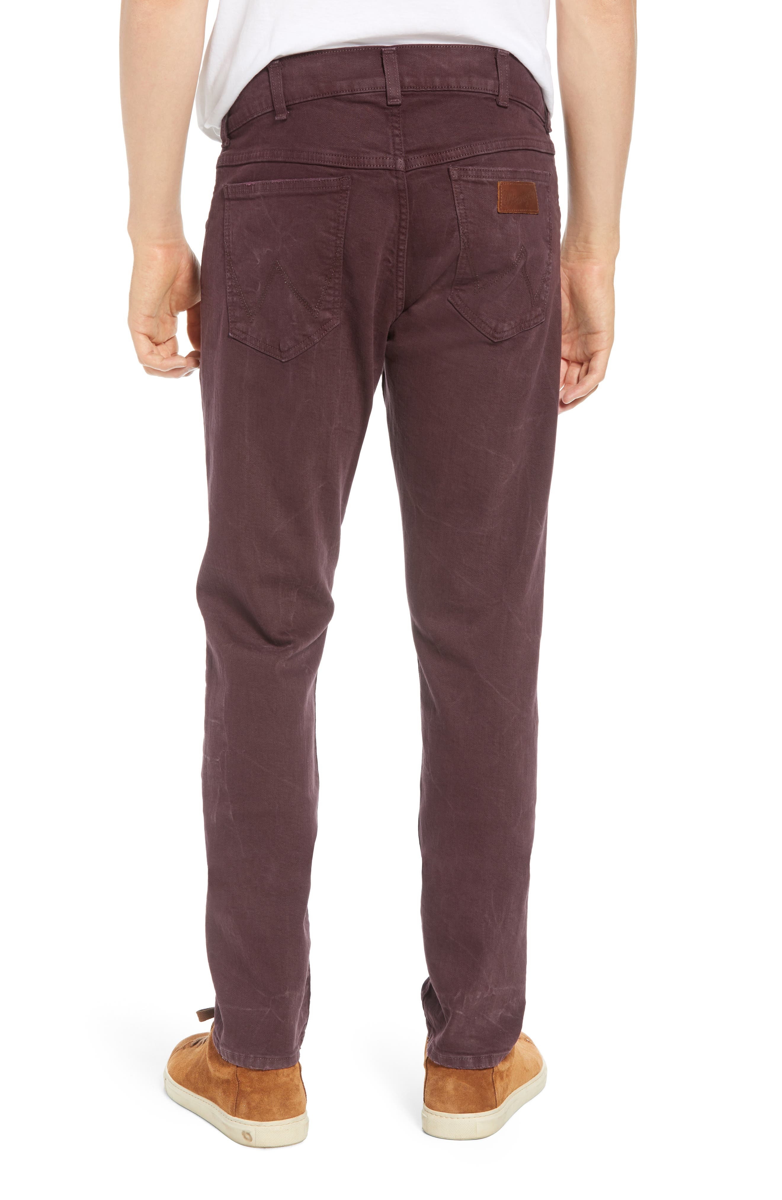 Larston Slim Fit Jeans,                             Alternate thumbnail 2, color,                             AUBERGINE