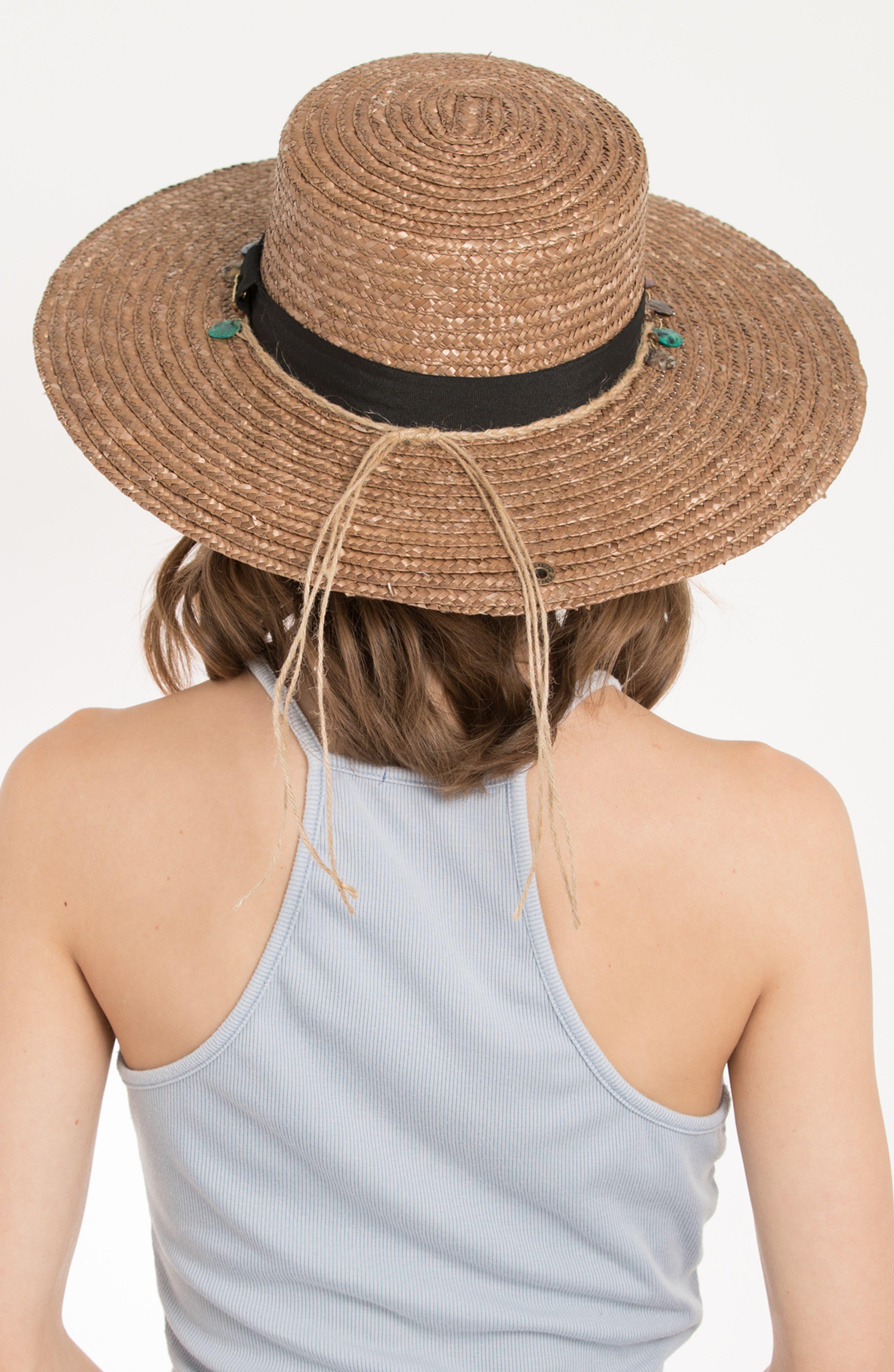 Clau Straw Resort Hat,                             Alternate thumbnail 4, color,                             BROWN