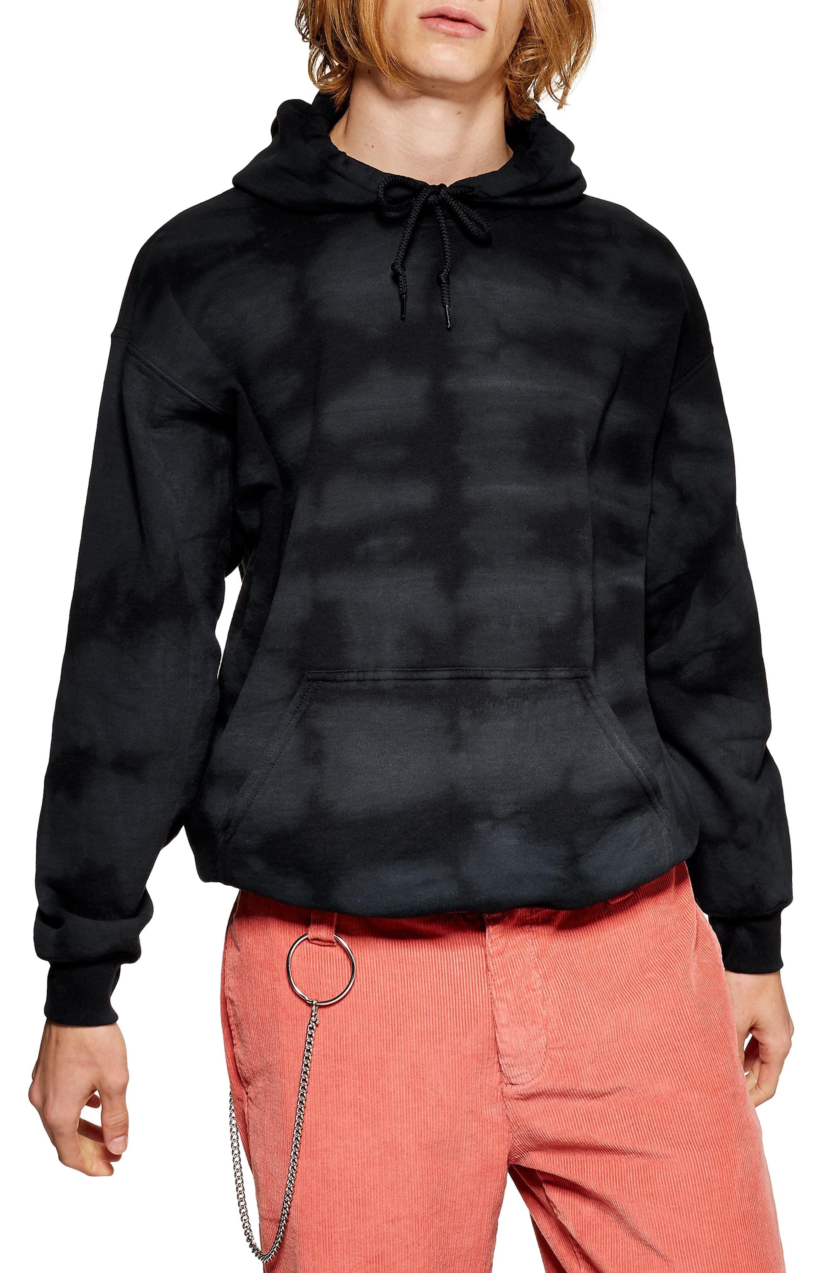 Tie Dye Hoodie,                             Main thumbnail 1, color,                             BLACK MULTI