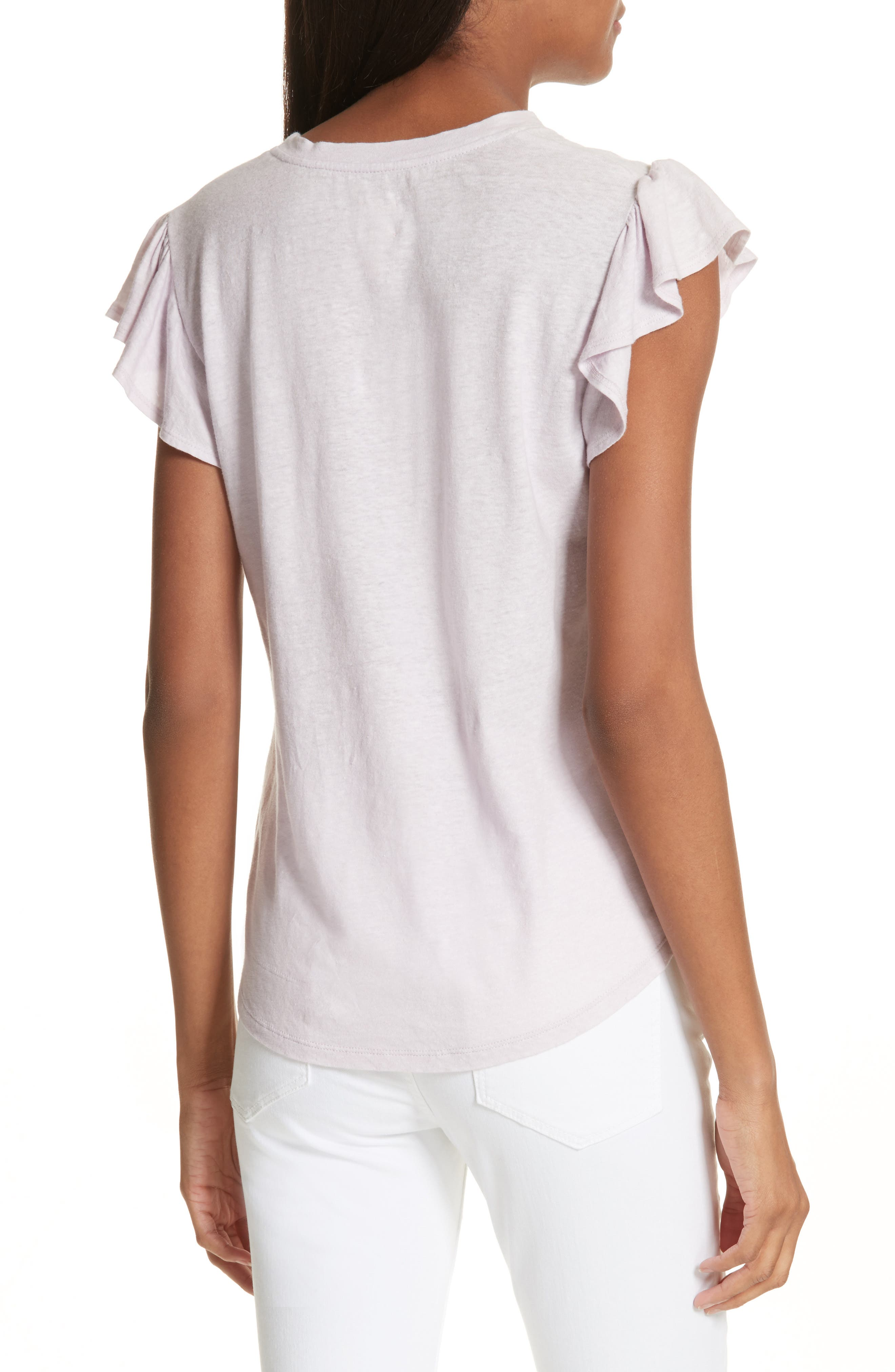 Flutter Sleeve Tee,                             Alternate thumbnail 2, color,                             661