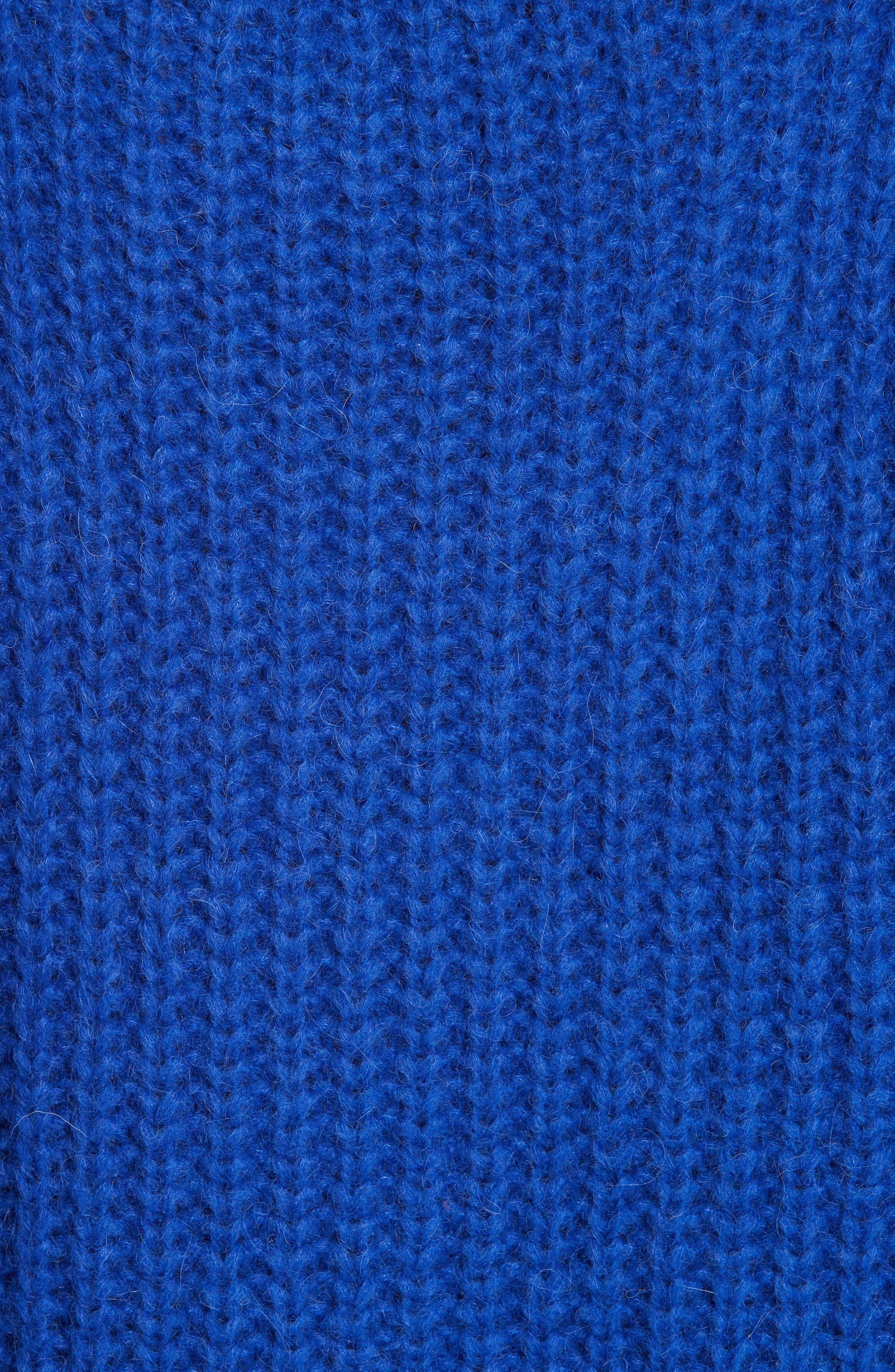 Emera Turtleneck Sweater,                             Alternate thumbnail 5, color,                             BLUE