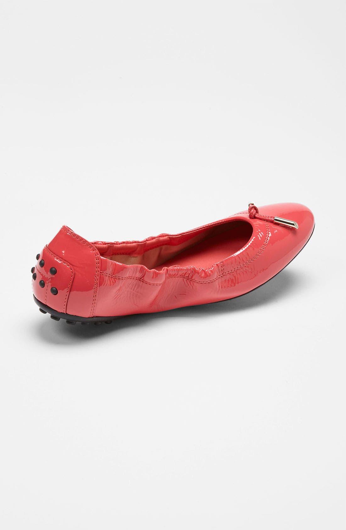 Bow Trim Patent Leather Flat,                             Alternate thumbnail 24, color,