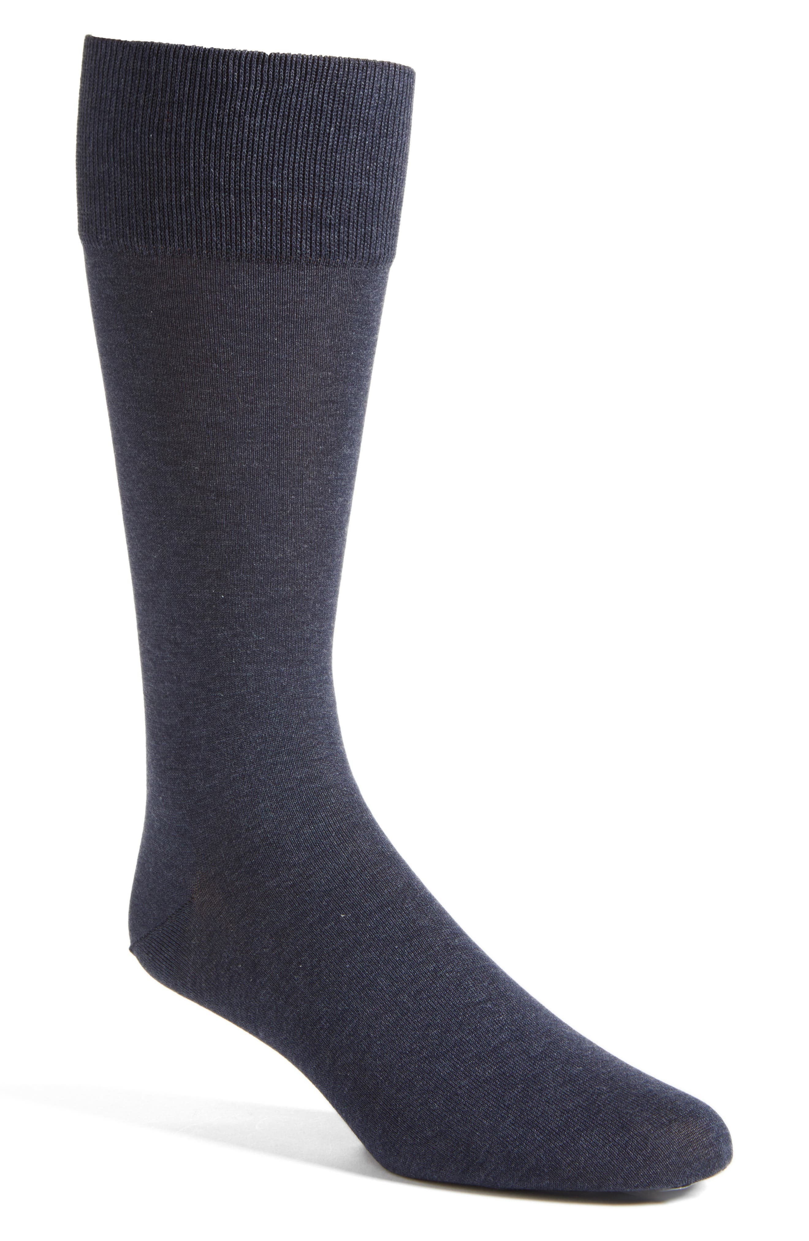 Solid Socks,                             Main thumbnail 1, color,                             CHARCOAL HEATHER