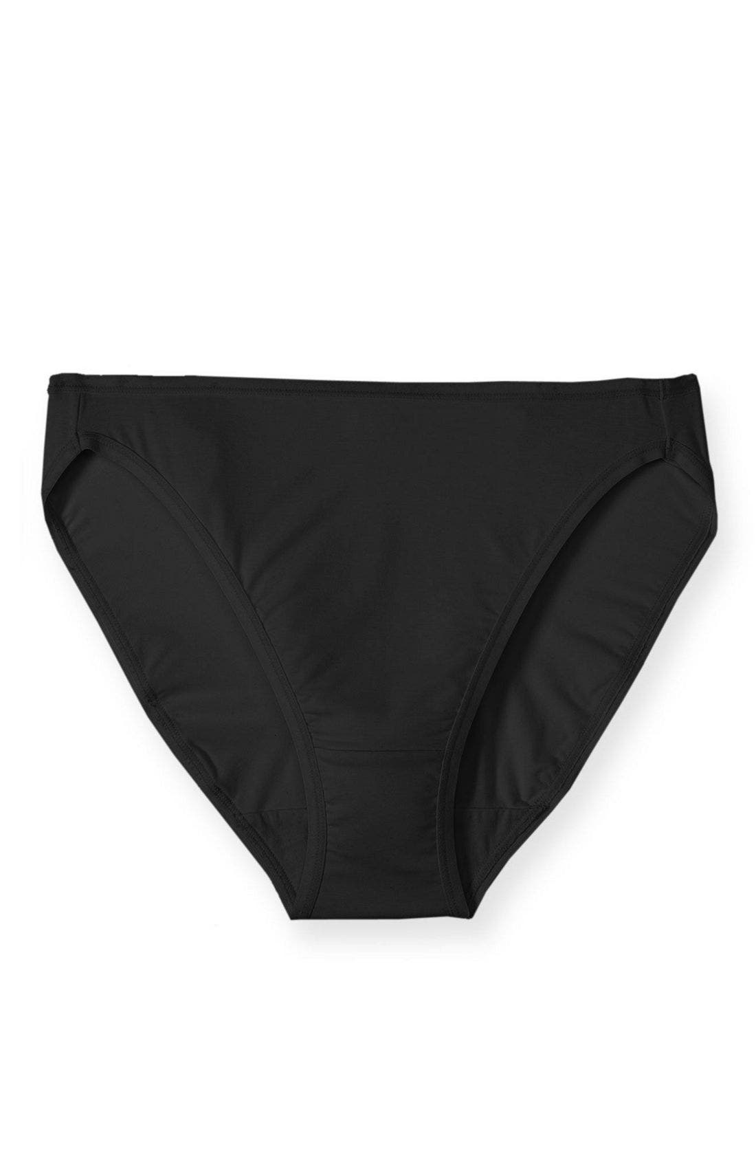 'Sublime' High Cut Briefs,                             Alternate thumbnail 2, color,                             BLACK