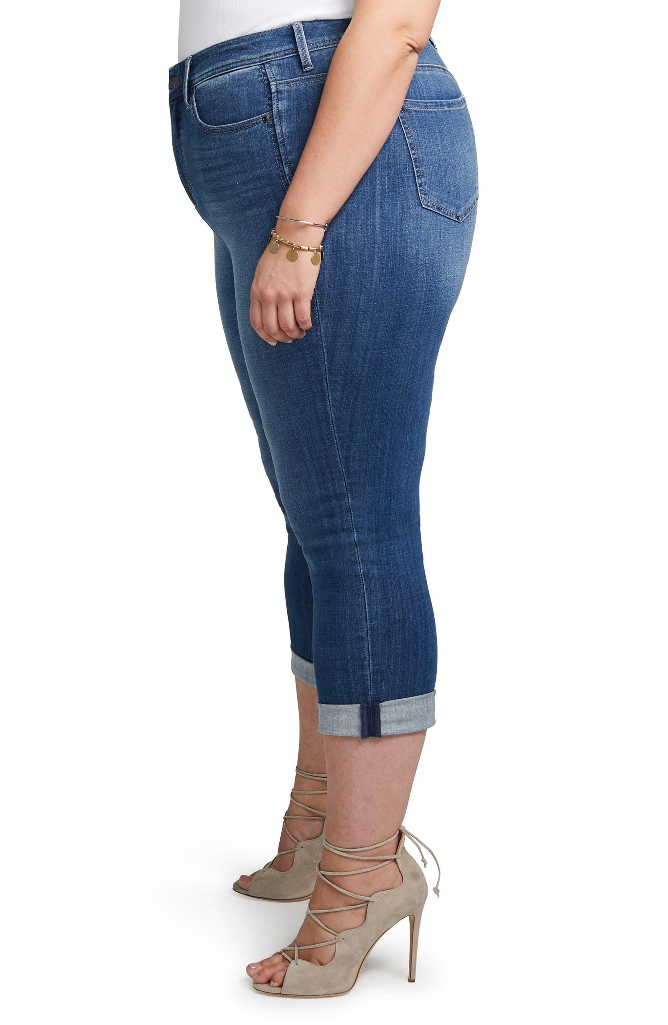 Slim Straight Crop Jeans,                             Alternate thumbnail 3, color,                             404