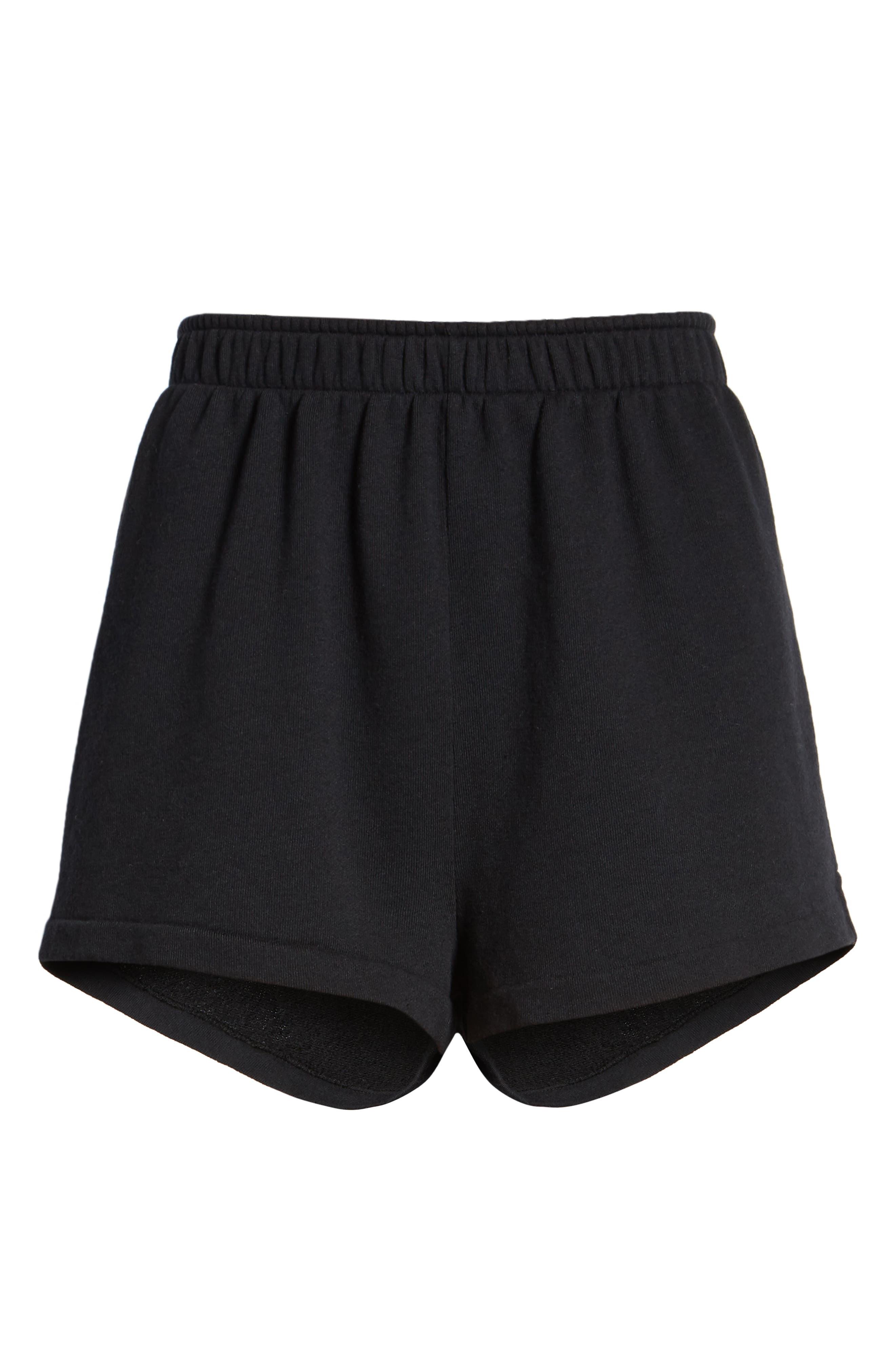 Golden Shorts,                             Alternate thumbnail 6, color,                             JET BLACK