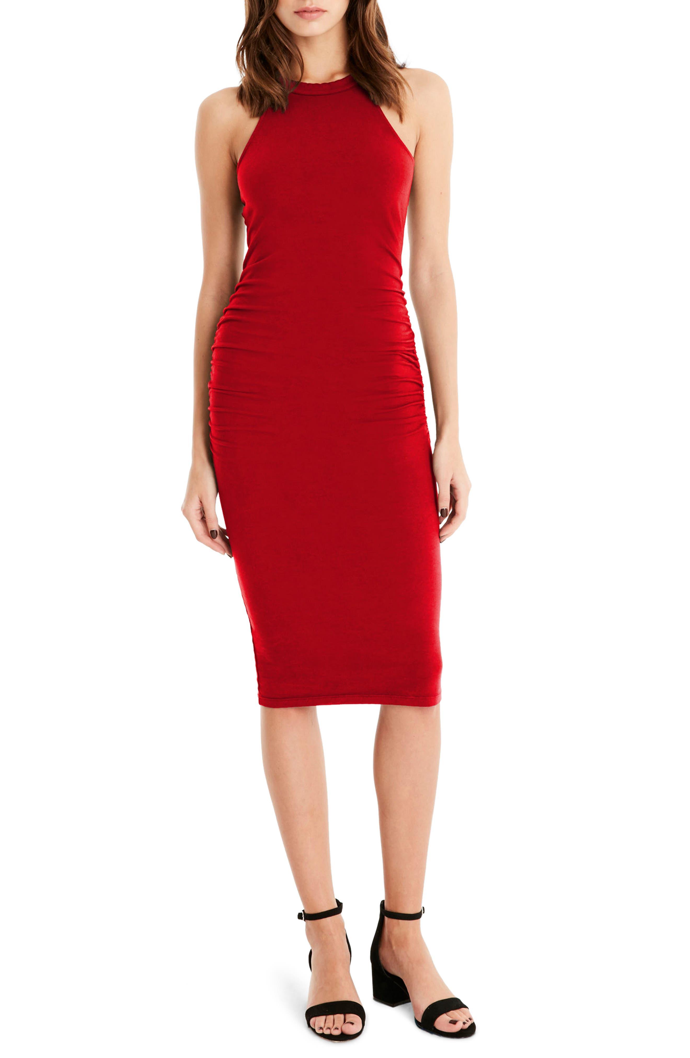 Halter Midi Dress,                             Main thumbnail 4, color,