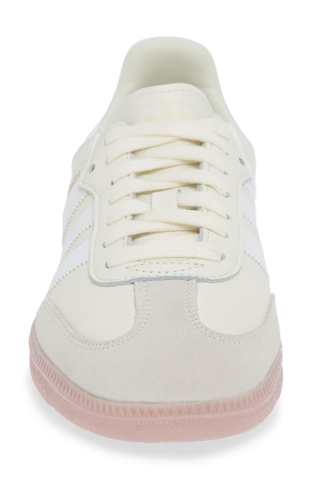Samba Sneaker,                             Alternate thumbnail 4, color,                             OFF WHITE/ WHITE/ SOFT VISION
