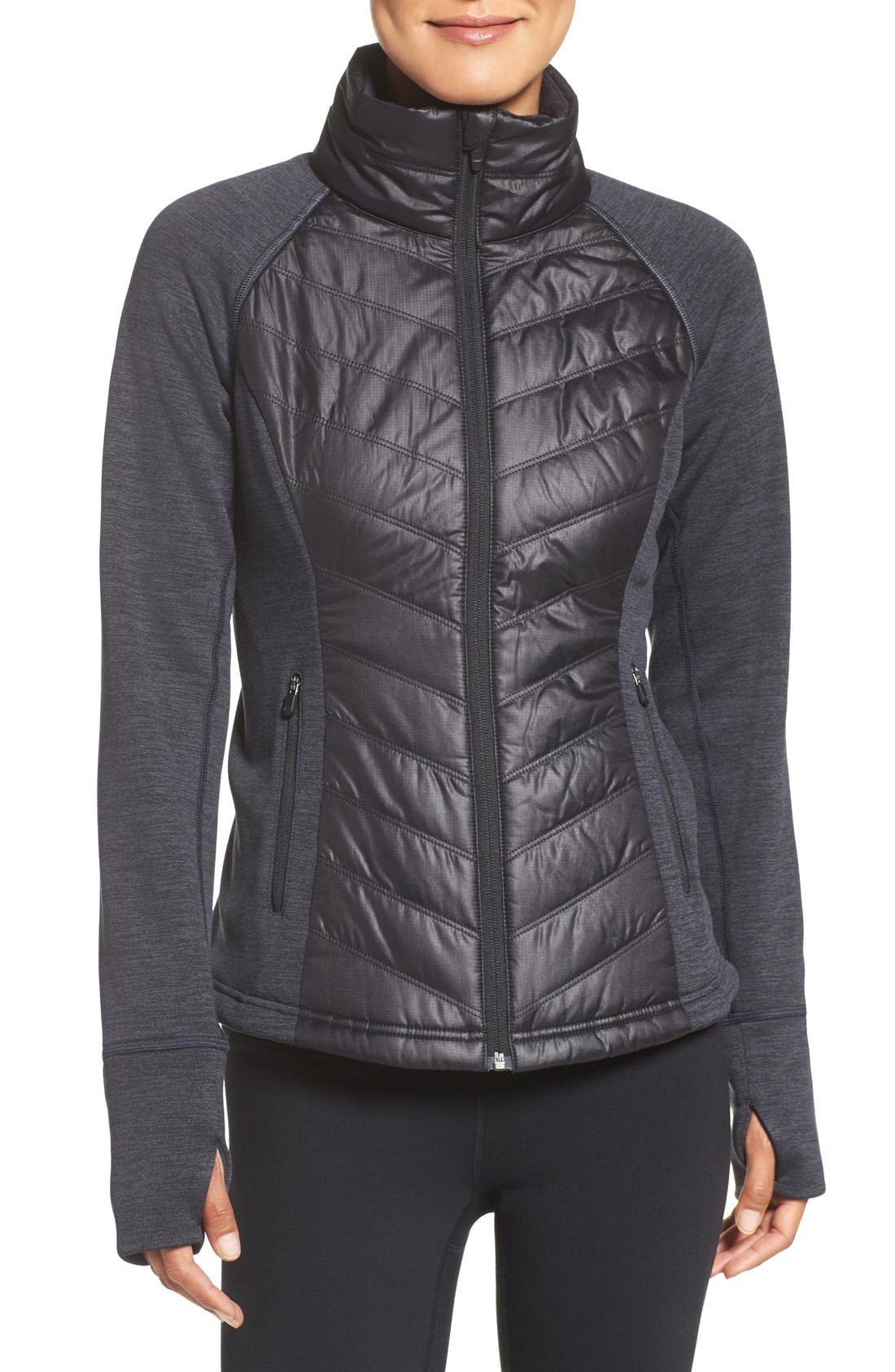 Zelfusion Reflective Quilted Jacket,                             Main thumbnail 7, color,