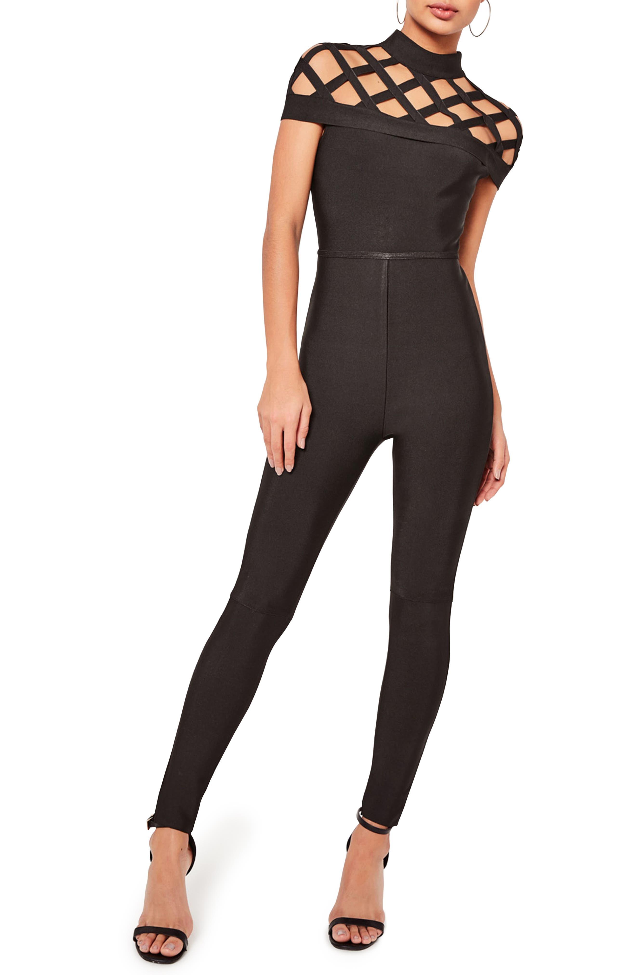 Bandage Jumpsuit, Main, color, 001