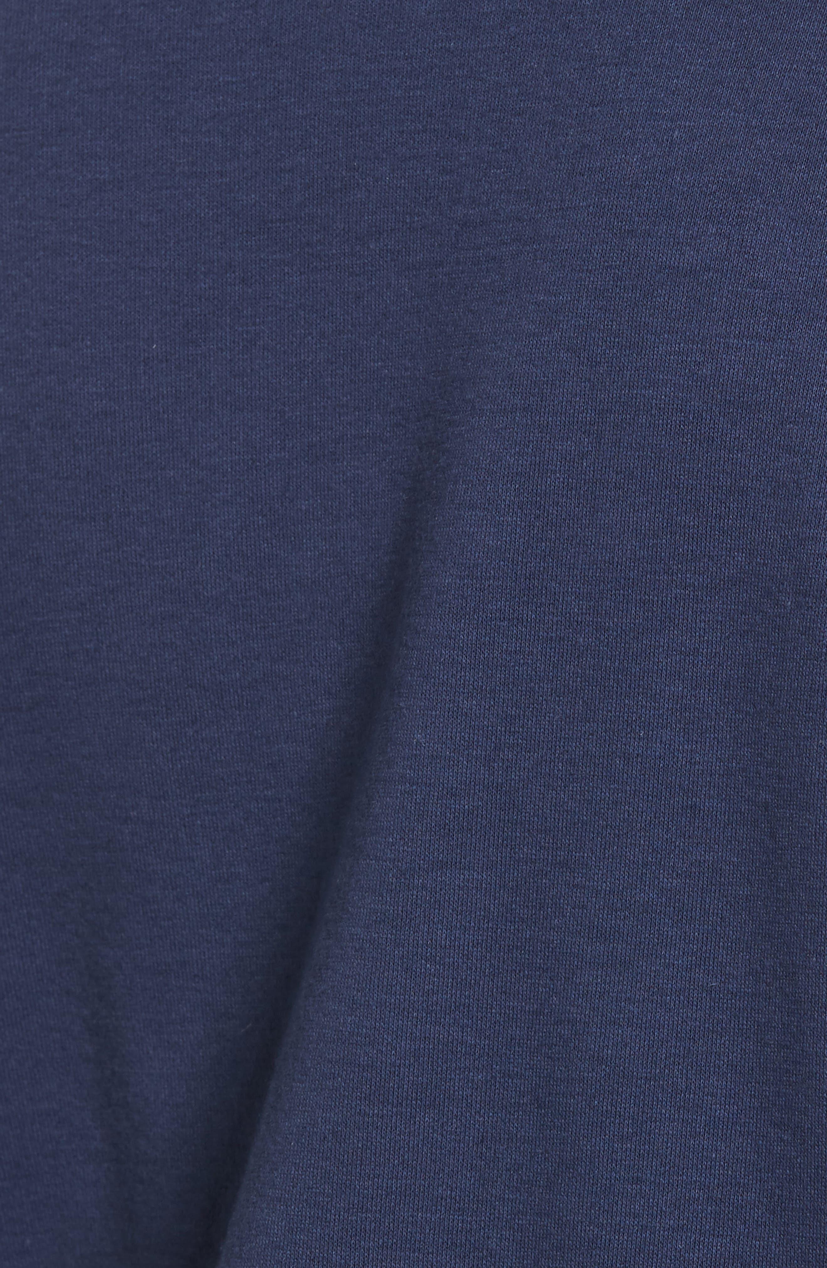 Ruched Sleeve Poplin Trim Sweatshirt,                             Alternate thumbnail 19, color,