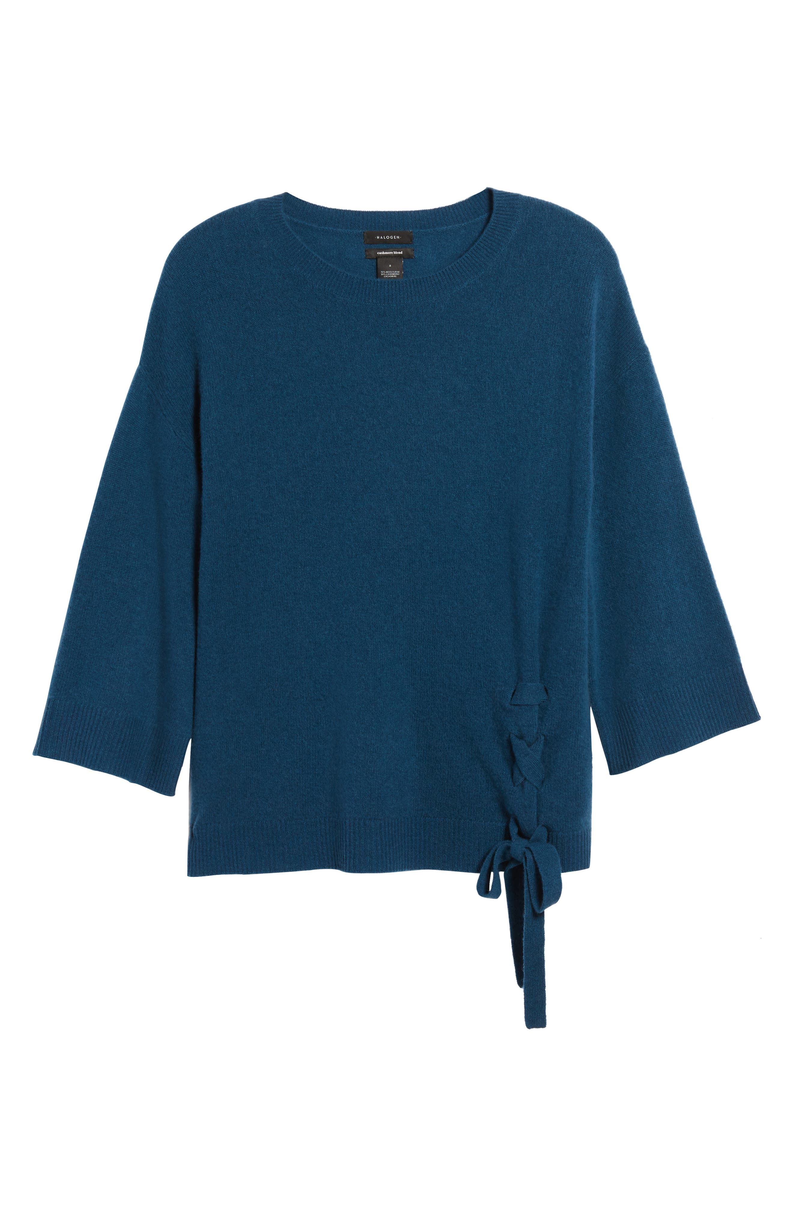 Side Tie Wool and Cashmere Sweater,                             Alternate thumbnail 33, color,