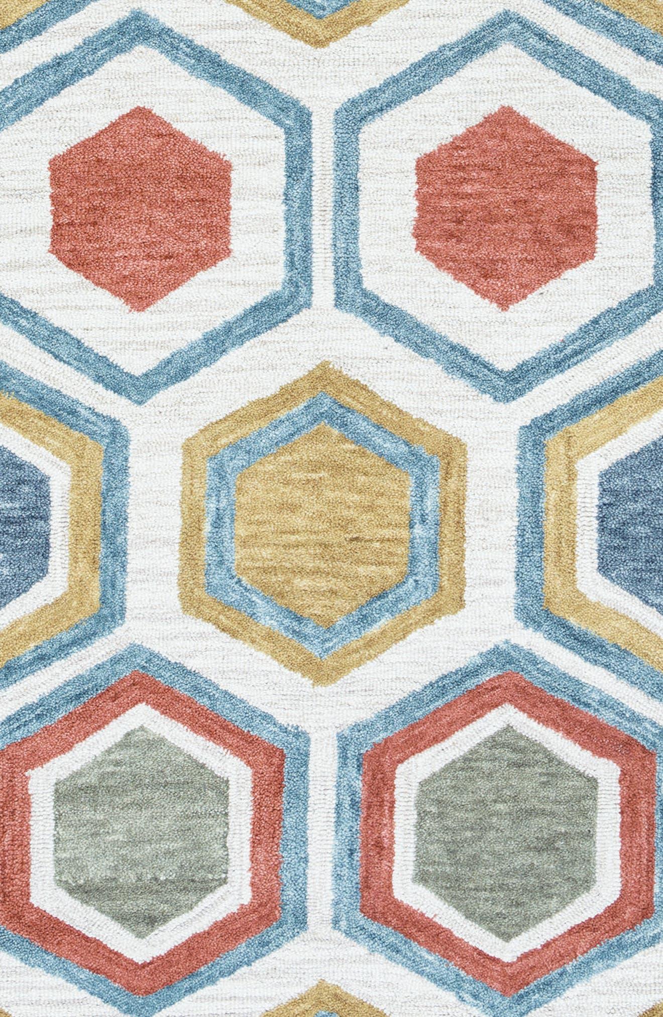 'Lancaster Geometric' Hand Tufted Wool Area Rug,                             Alternate thumbnail 5, color,                             020